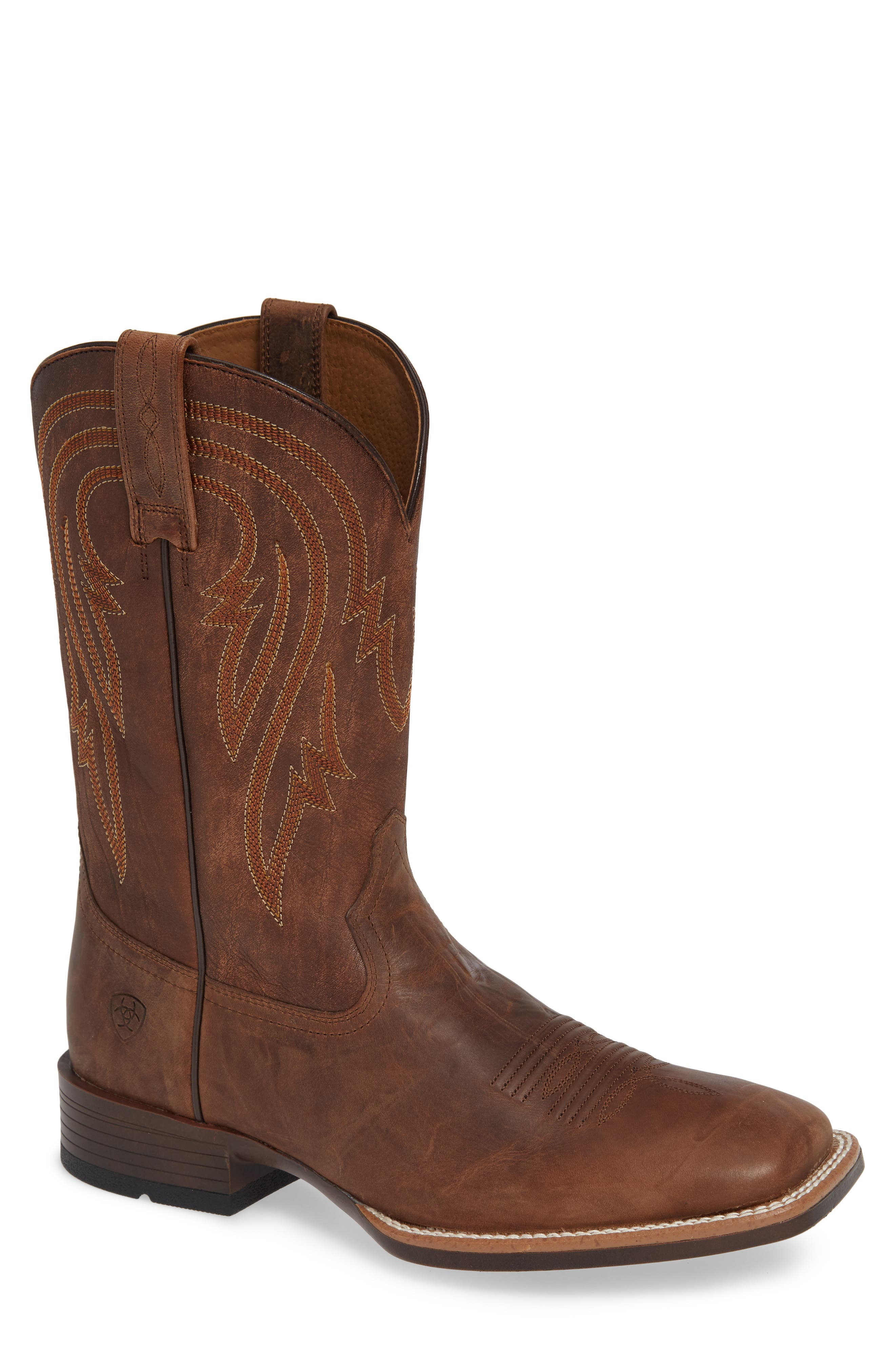 ARIAT, Plano Cowboy Boot, Main thumbnail 1, color, TANNIN/ TACK ROM LEATHER