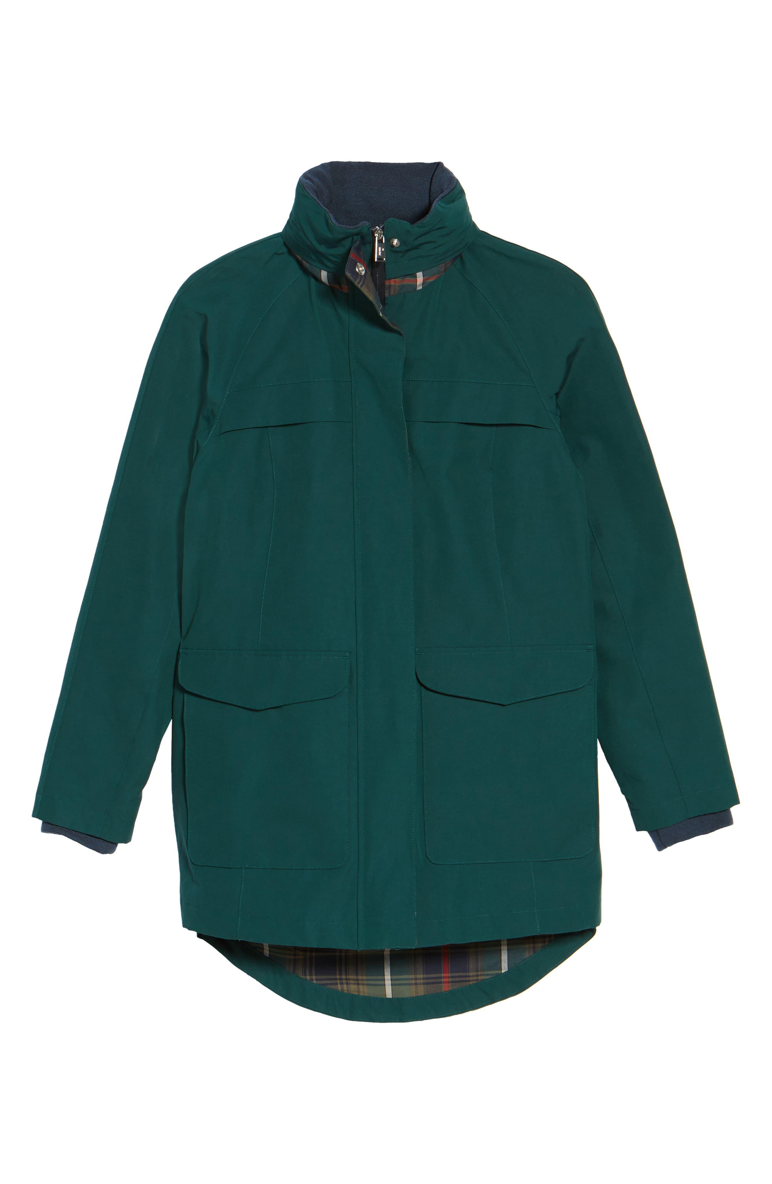 PENDLETON, Hooded Raincoat, Alternate thumbnail 6, color, 331
