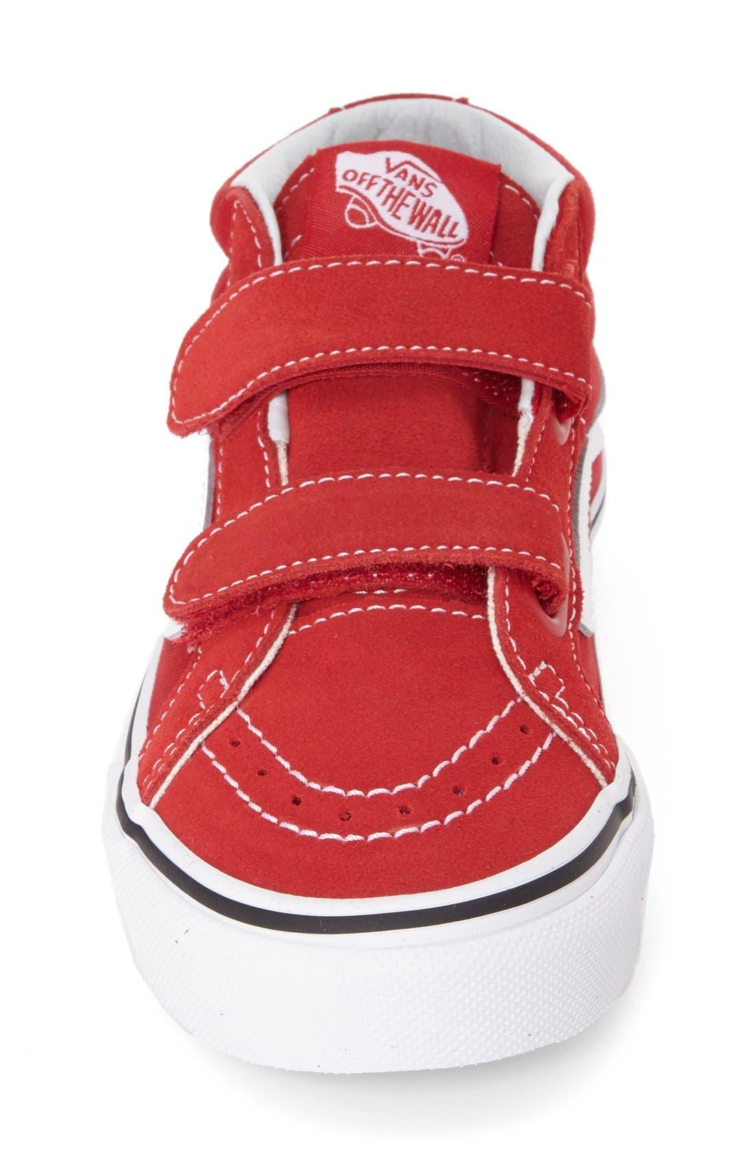 VANS, 'Sk8-Hi Reissue V' Sneaker, Alternate thumbnail 4, color, FORMULA ONE/ TRUE WHITE