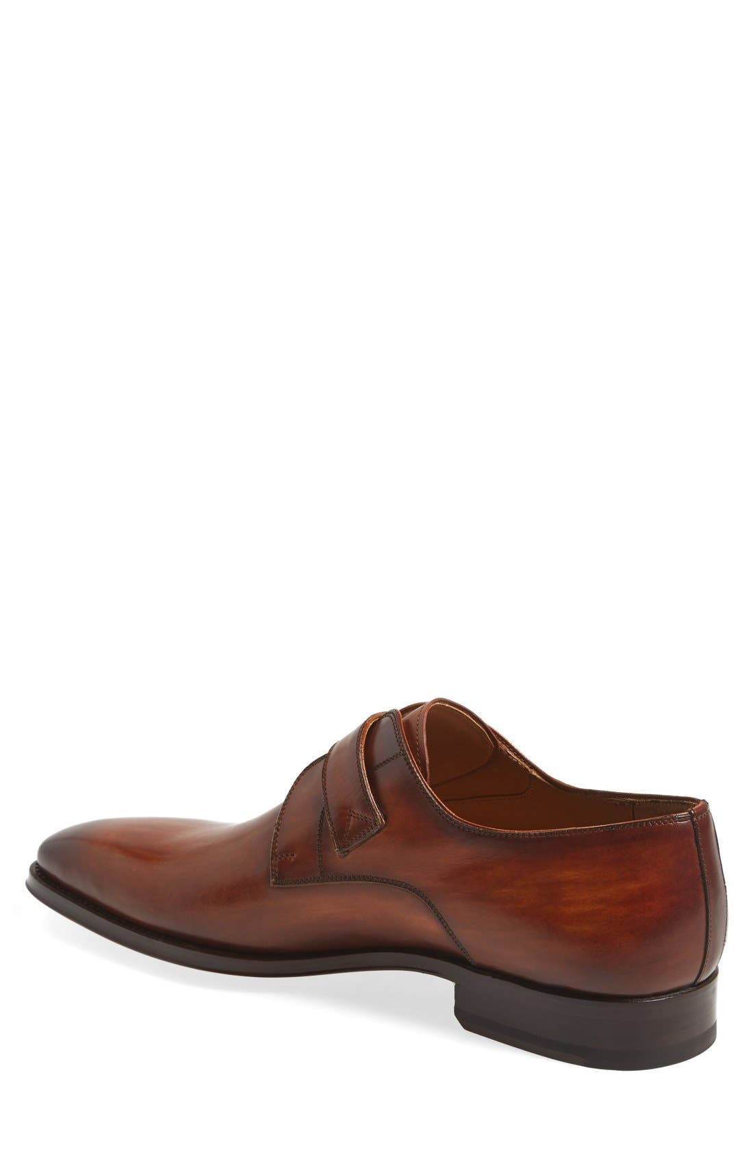MAGNANNI, Marco Monk Strap Loafer, Alternate thumbnail 3, color, CUERO BROWN LEATHER