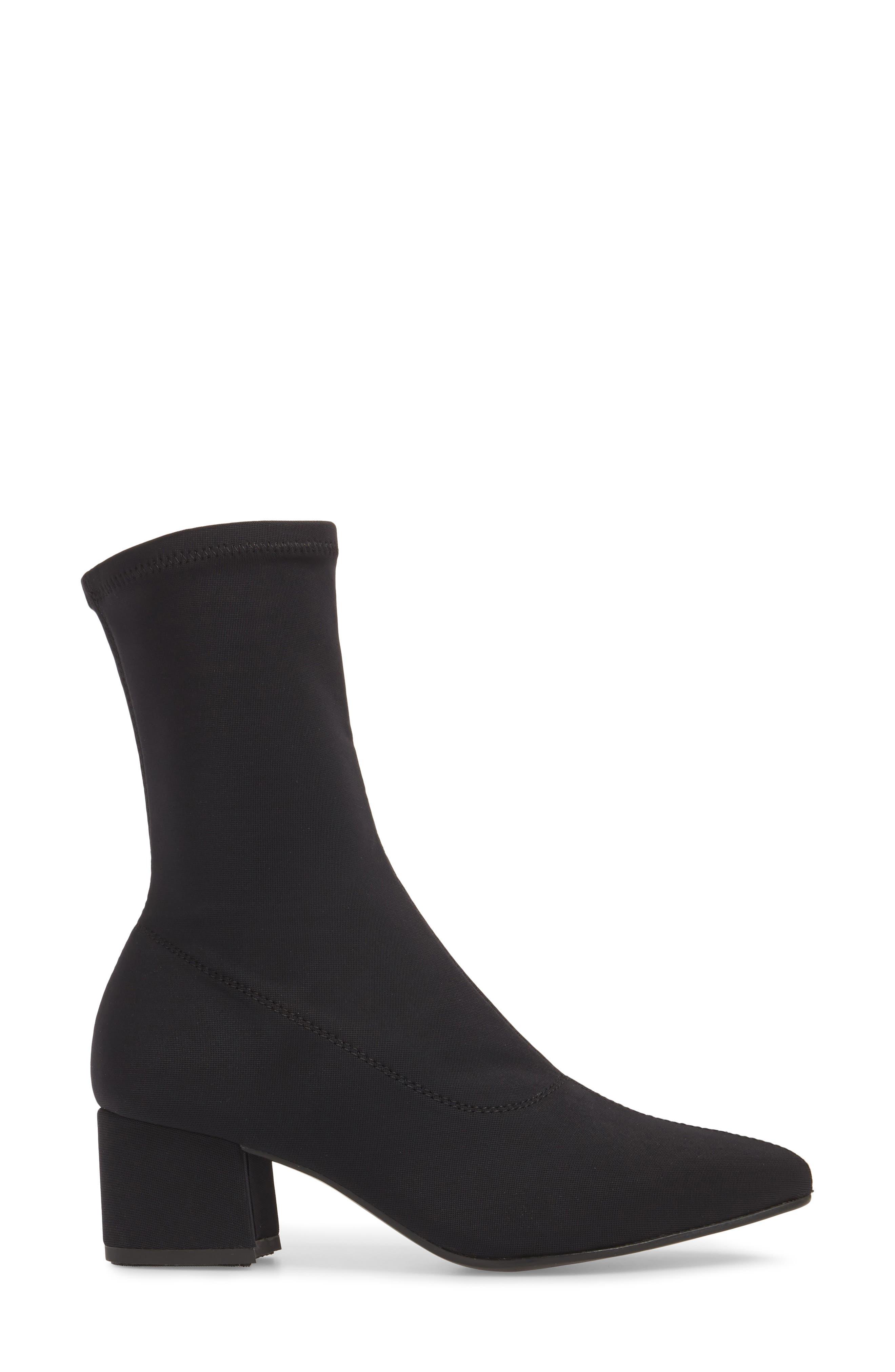 VAGABOND, Shoemakers Maya Stretch Bootie, Alternate thumbnail 3, color, BLACK FABRIC