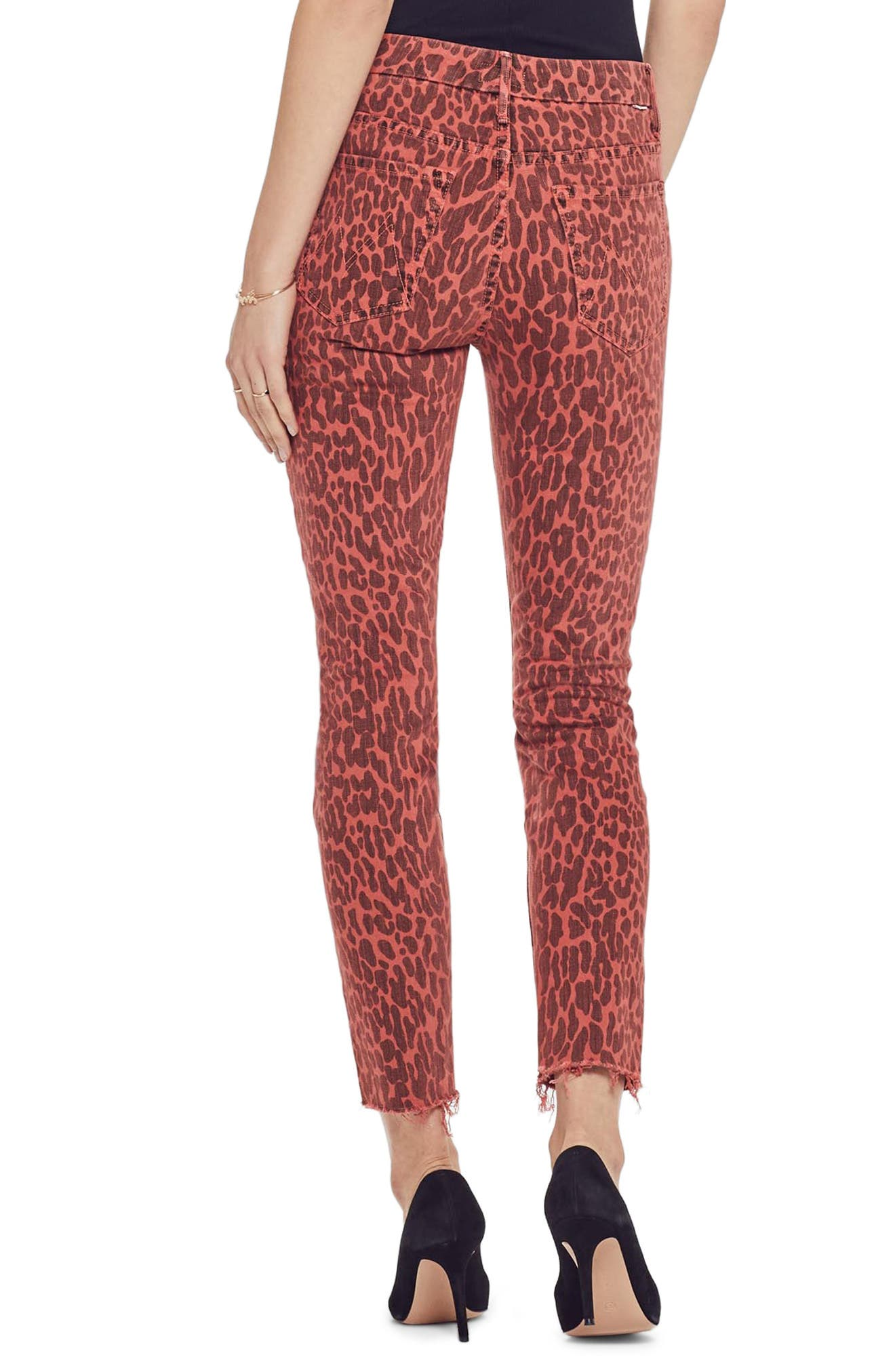 MOTHER, The Looker High Waist Fray Ankle Skinny Jeans, Alternate thumbnail 2, color, ANIMAL ATTRACTION