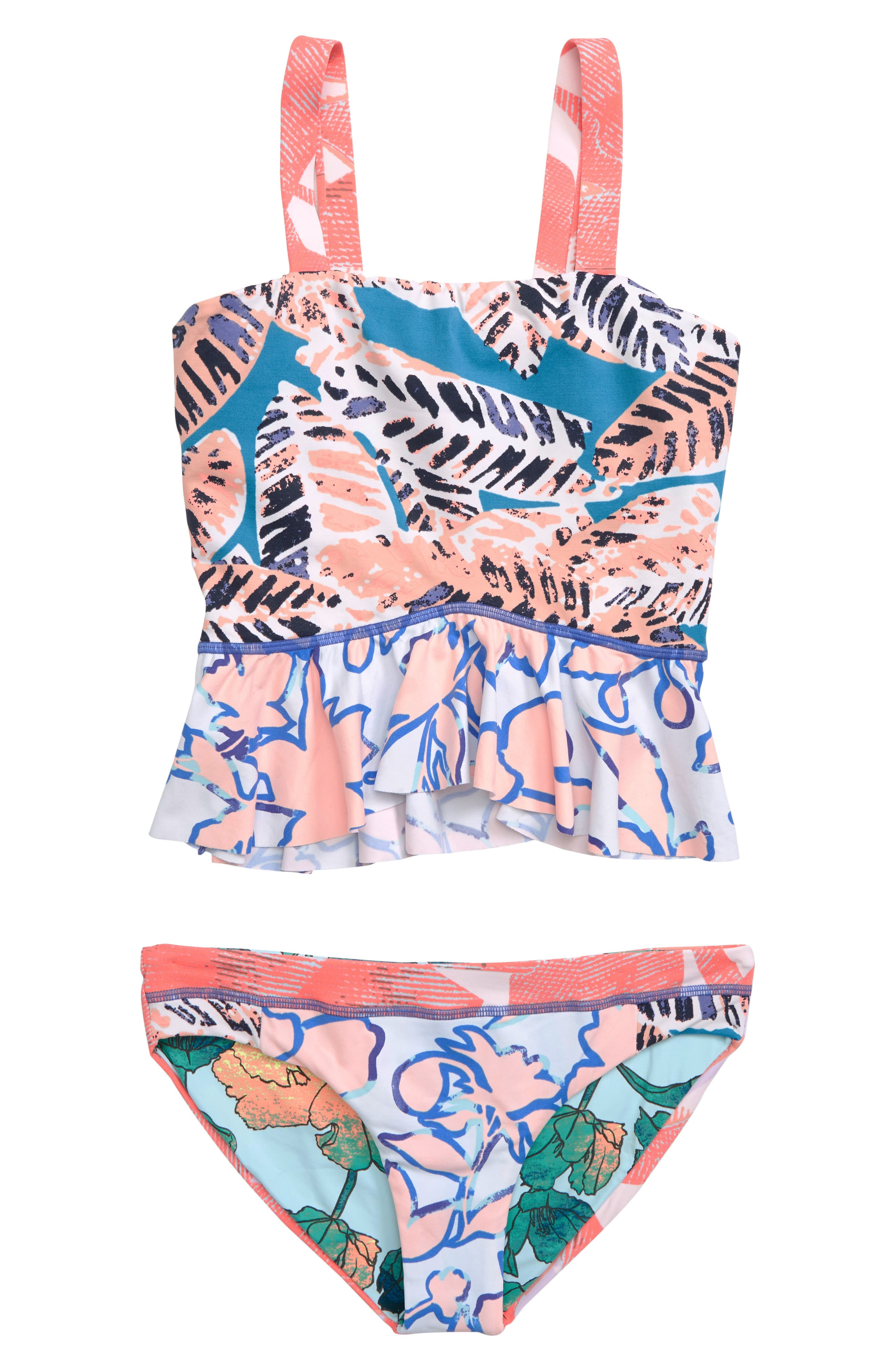 MAAJI, Waterscape Love Reversible Two-Piece Swimsuit, Main thumbnail 1, color, MULTICOLOR