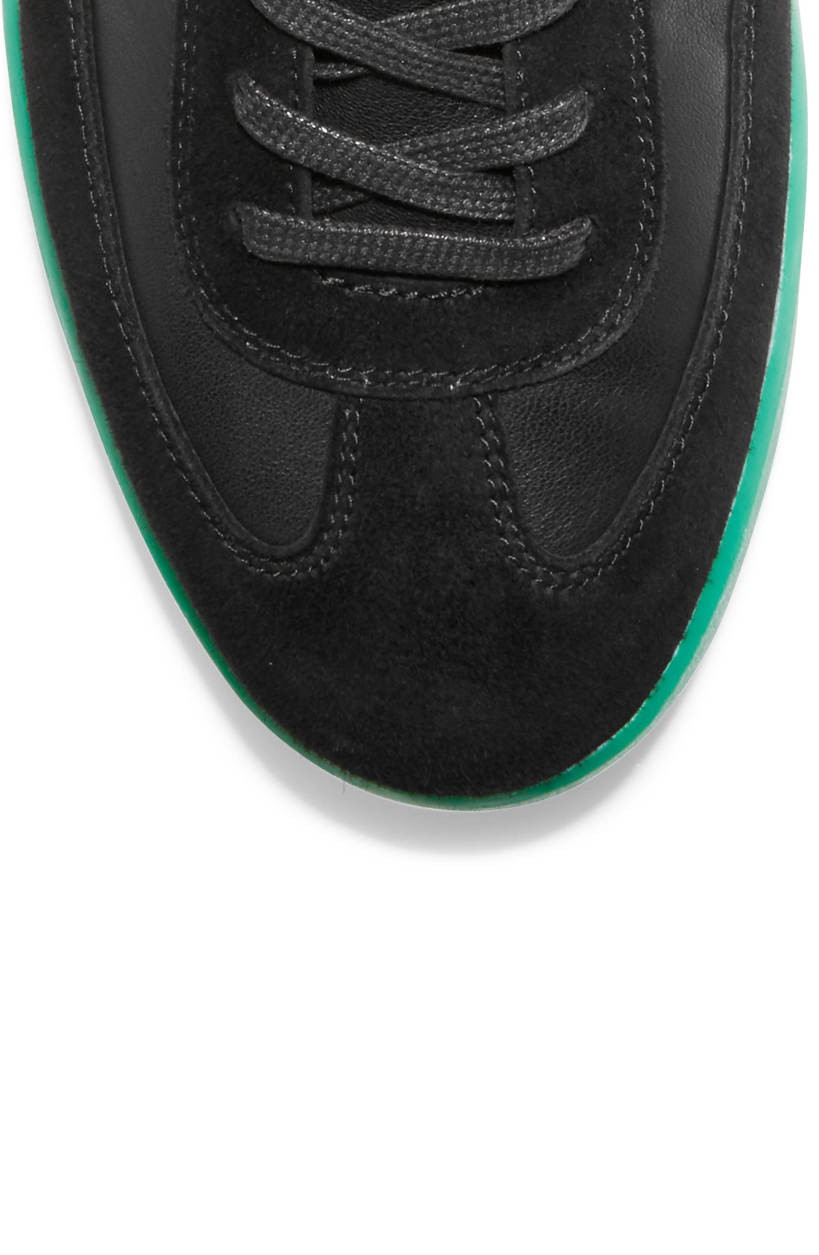 COLE HAAN, GrandPro Turf Sneaker, Alternate thumbnail 6, color, BLACK/ GREEN TRANSLUCENT