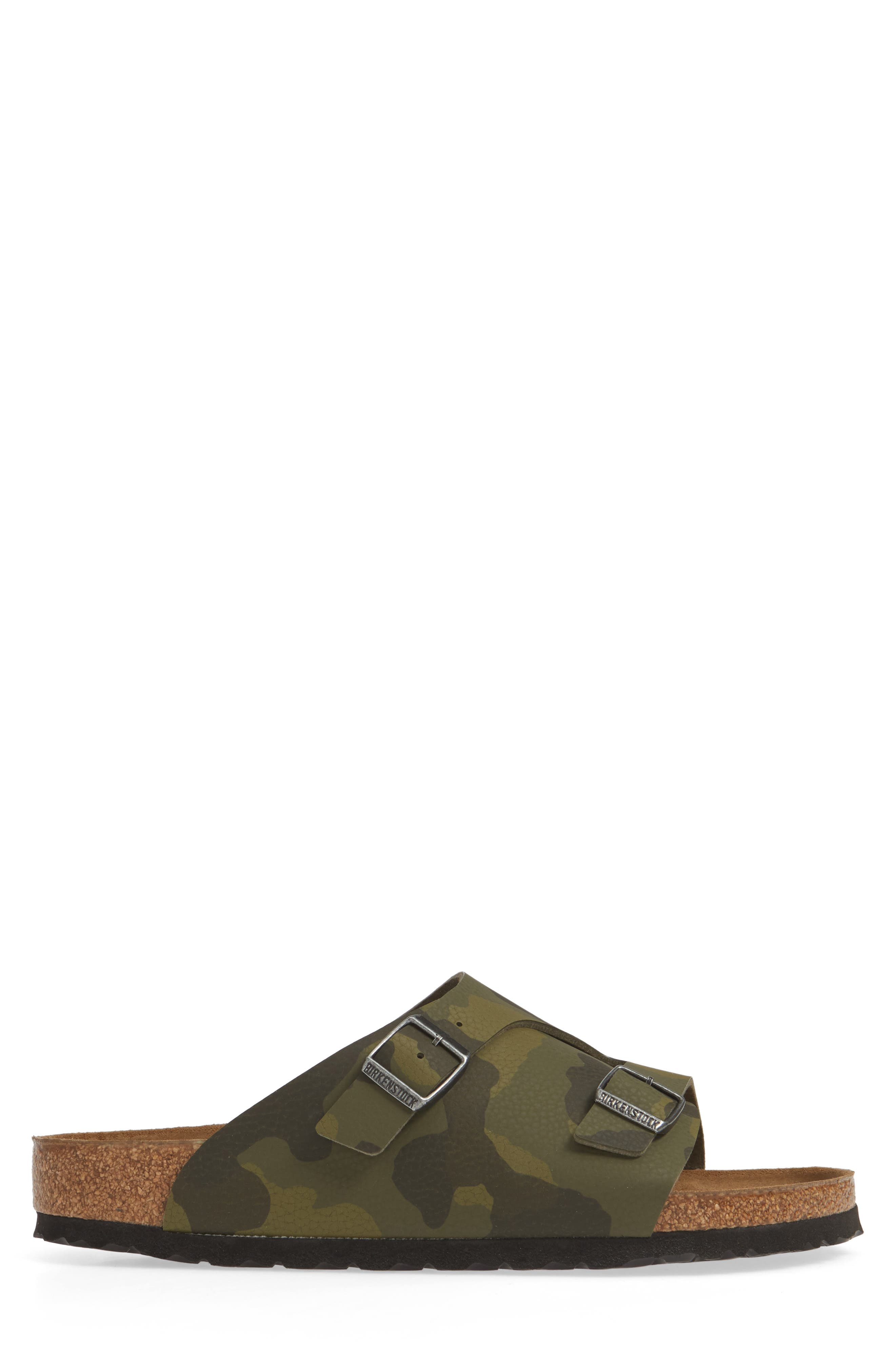BIRKENSTOCK, Zurich Slide Sandal, Alternate thumbnail 3, color, DESERT CAMO GREEN