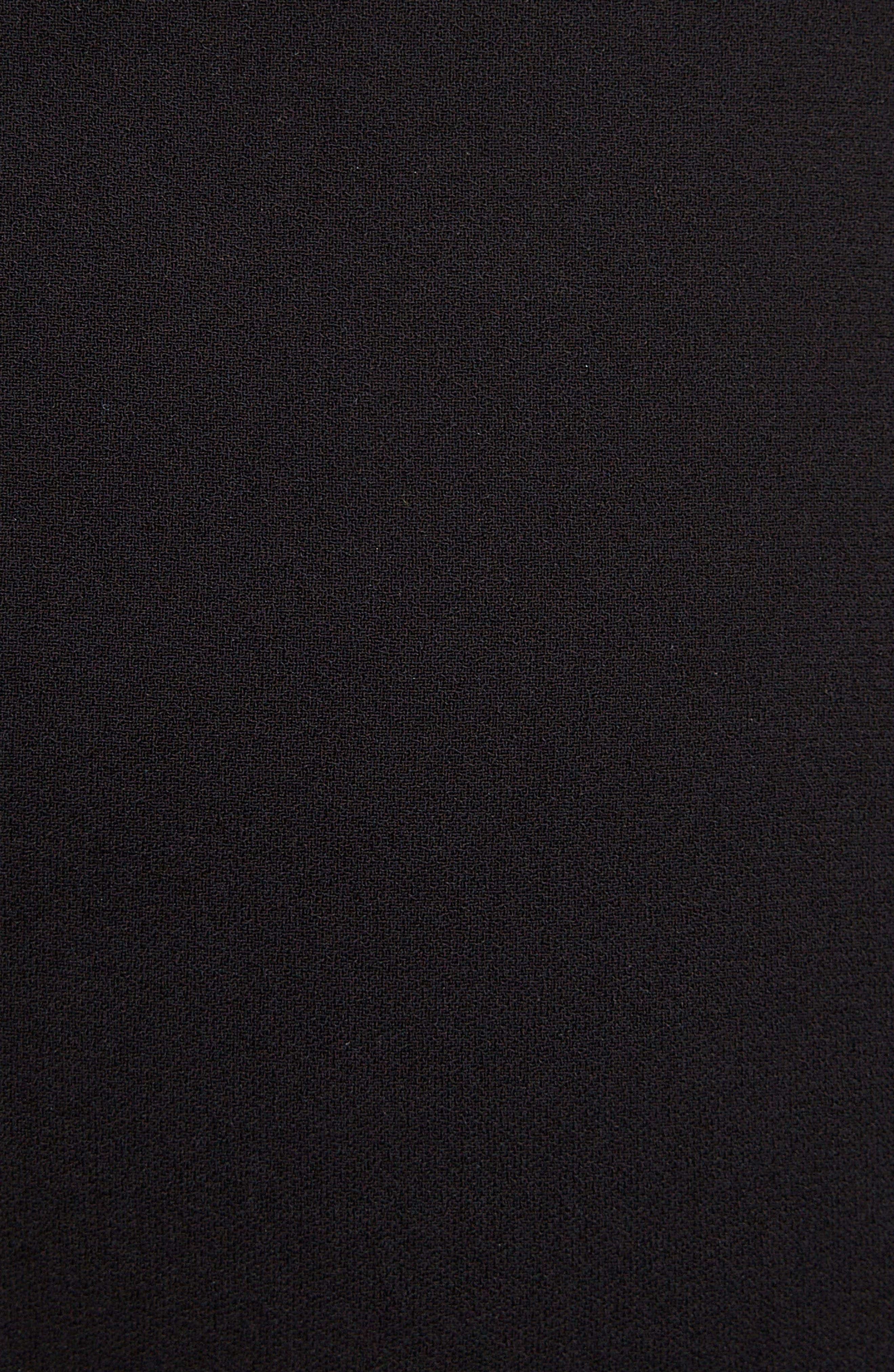 VICTORIA BECKHAM, Back Zip Pencil Skirt, Alternate thumbnail 5, color, BLACK