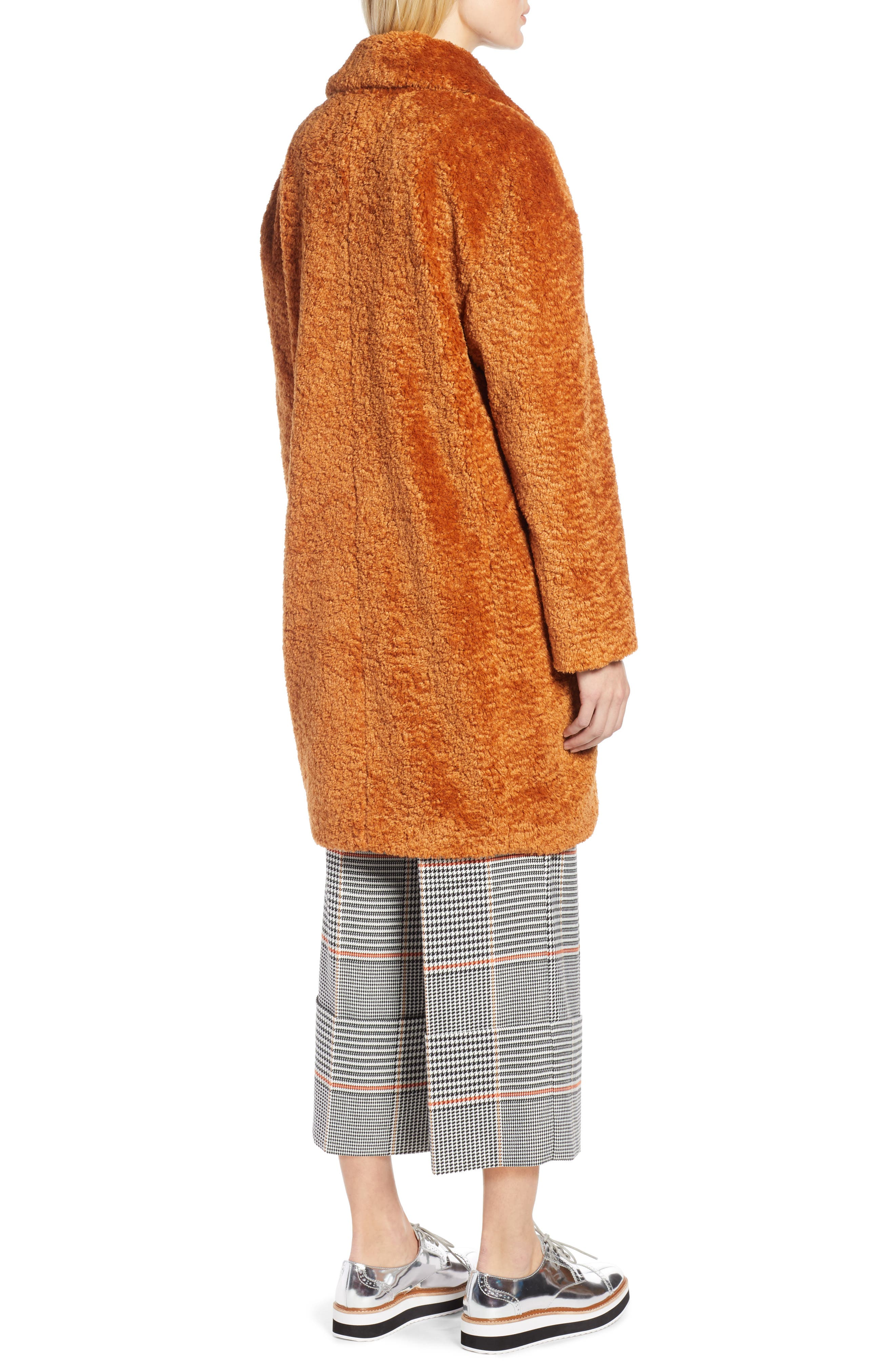 HALOGEN<SUP>®</SUP>, x Atlantic-Pacific Faux Fur Coat, Alternate thumbnail 2, color, 219