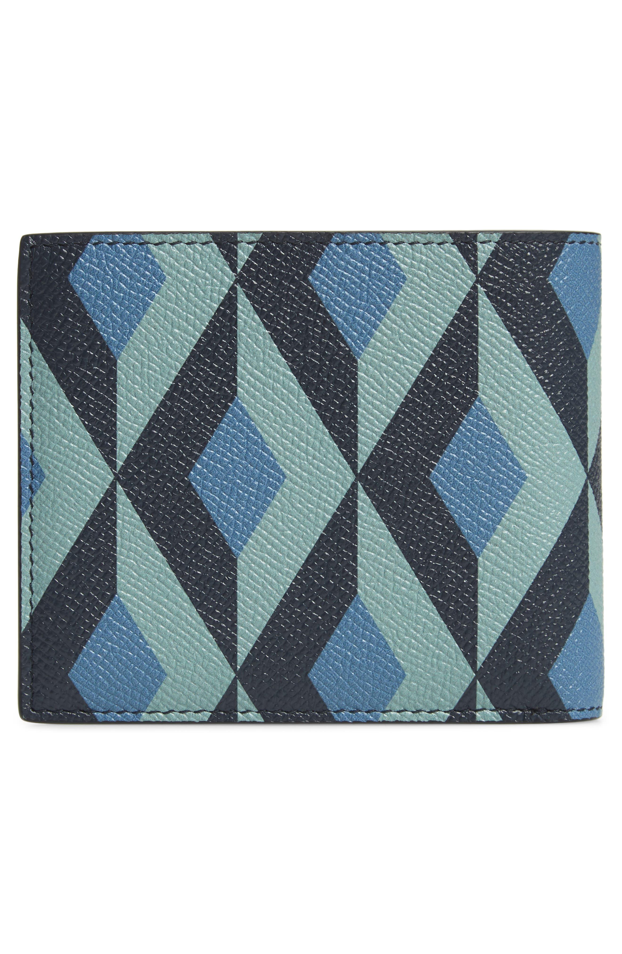 DUNHILL, Cadogan Leather Wallet, Alternate thumbnail 3, color, STONE BLUE