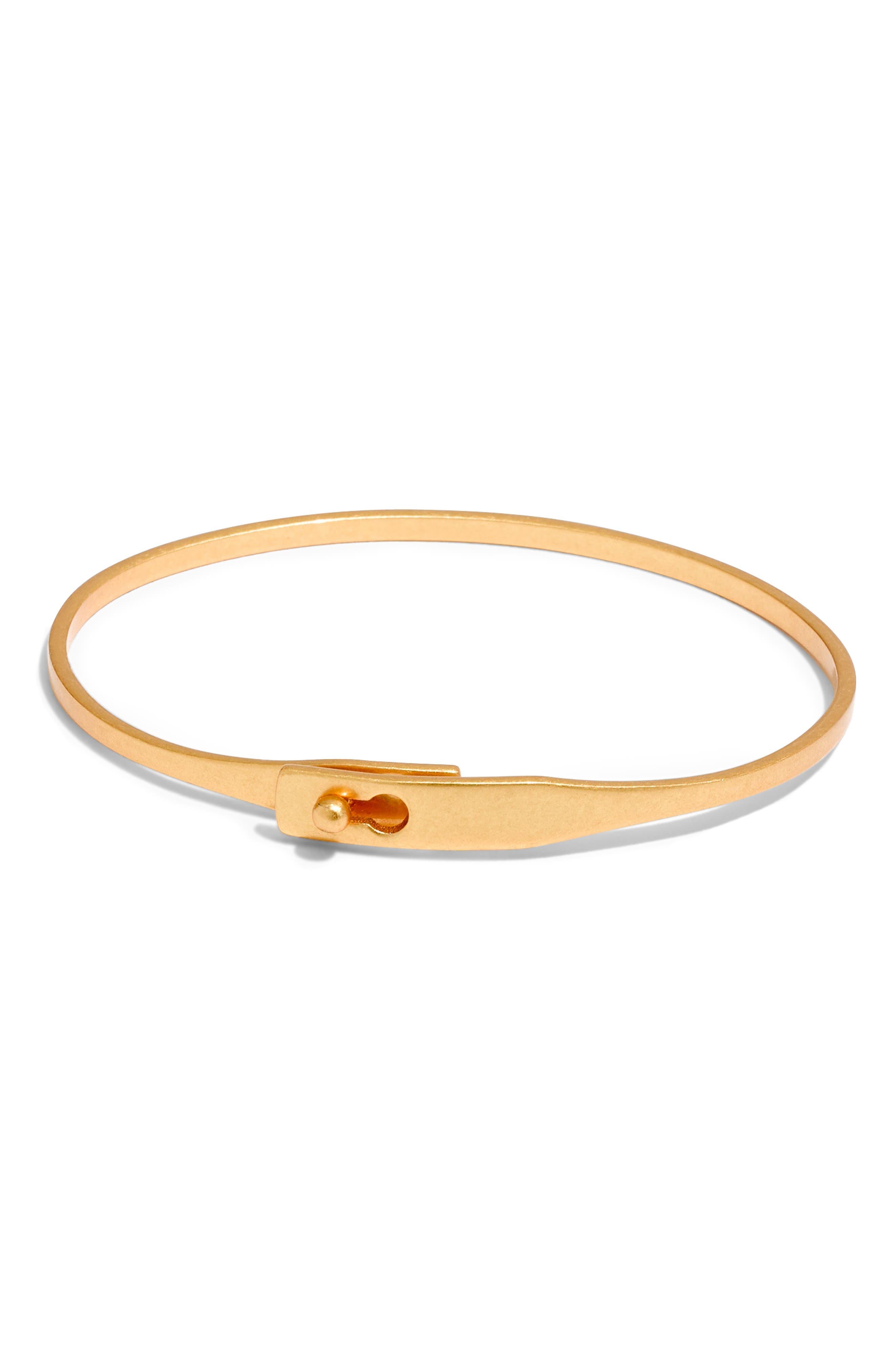 MADEWELL Delicate Glider Bangle Bracelet, Main, color, VINTAGE GOLD