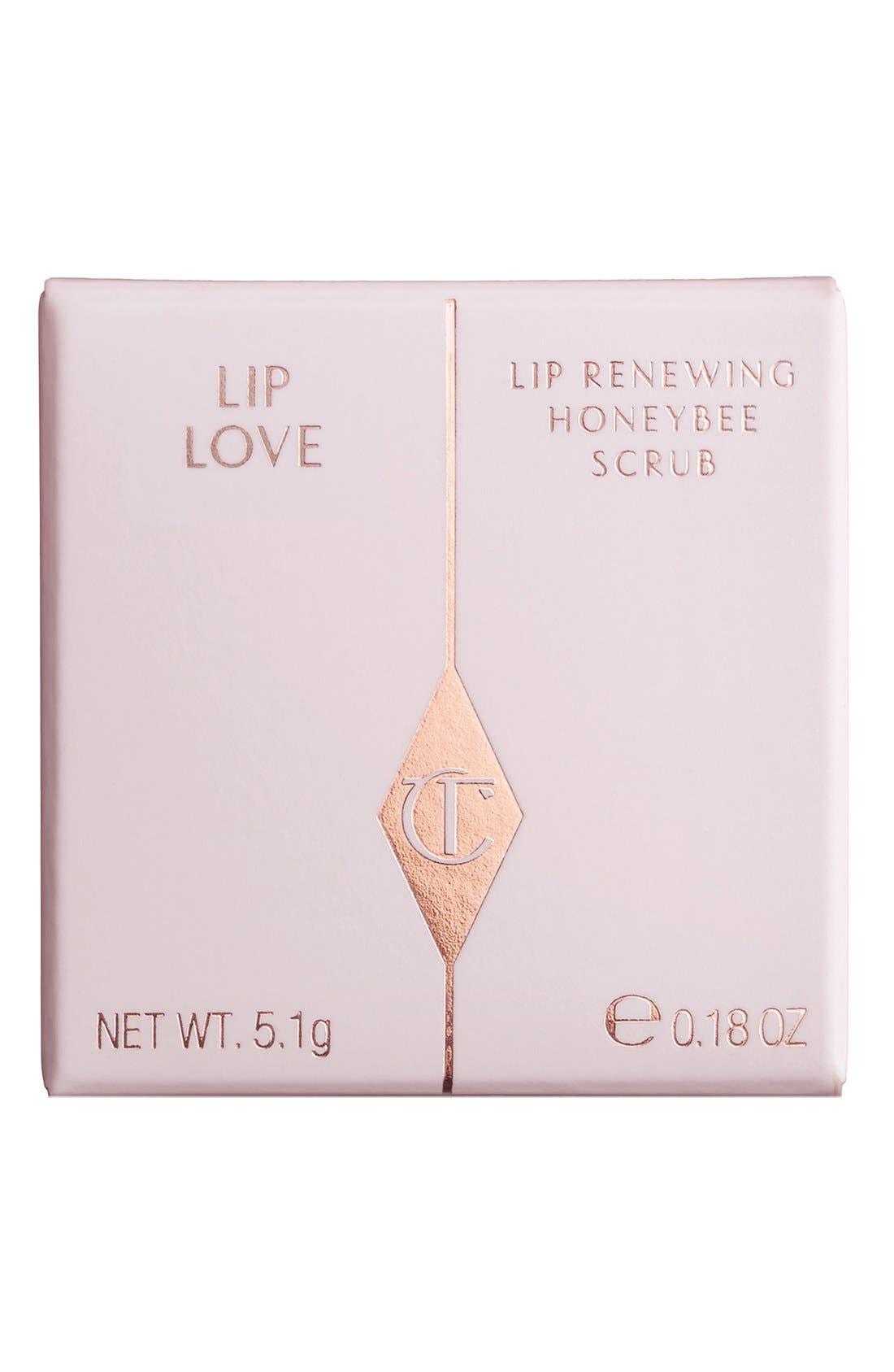 CHARLOTTE TILBURY, Lip Love Lip Renewing Honeybee Scrub, Alternate thumbnail 4, color, 000
