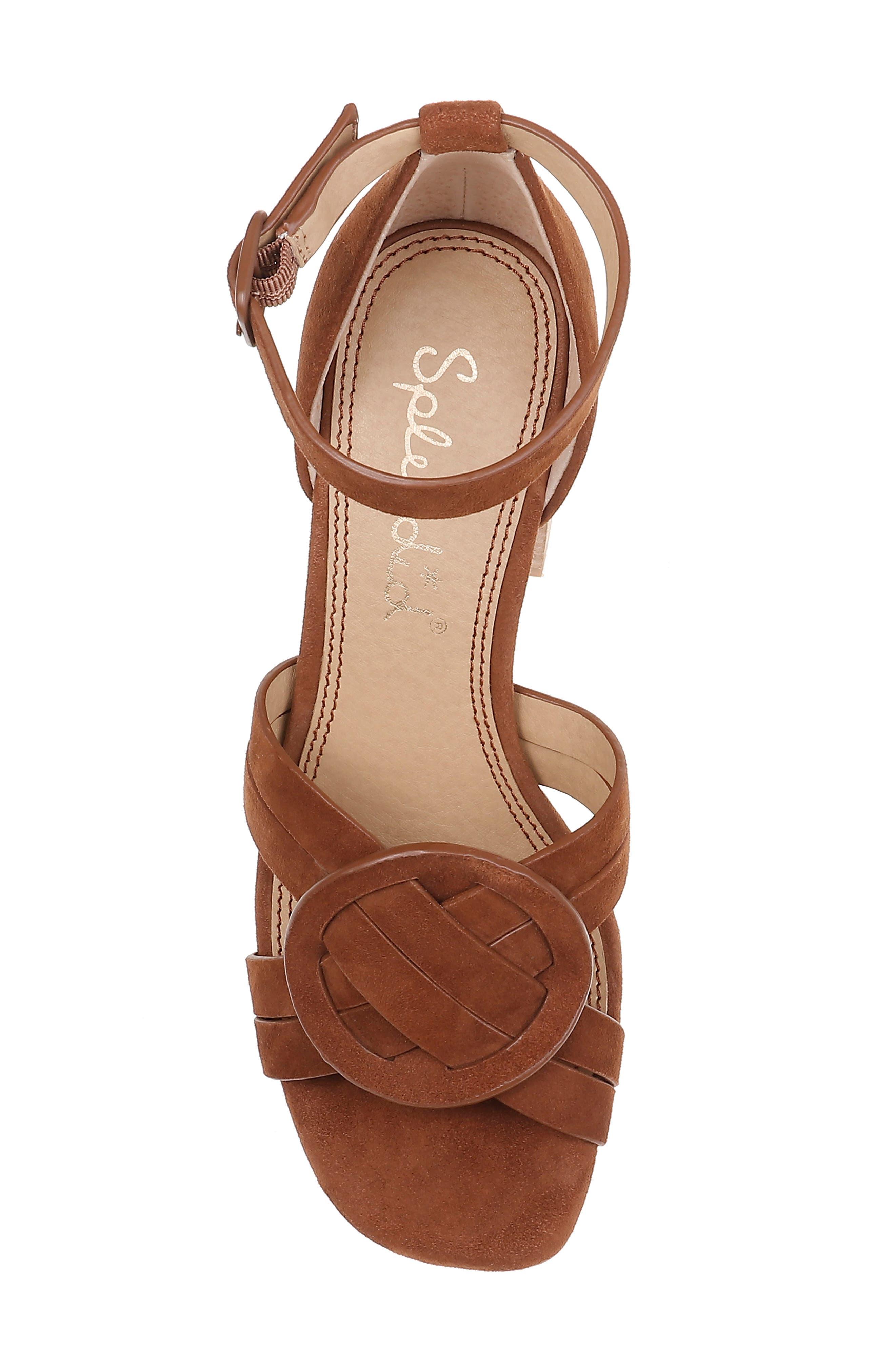 SPLENDID, Tallie Ankle Strap Sandal, Alternate thumbnail 5, color, CHESTNUT SUEDE