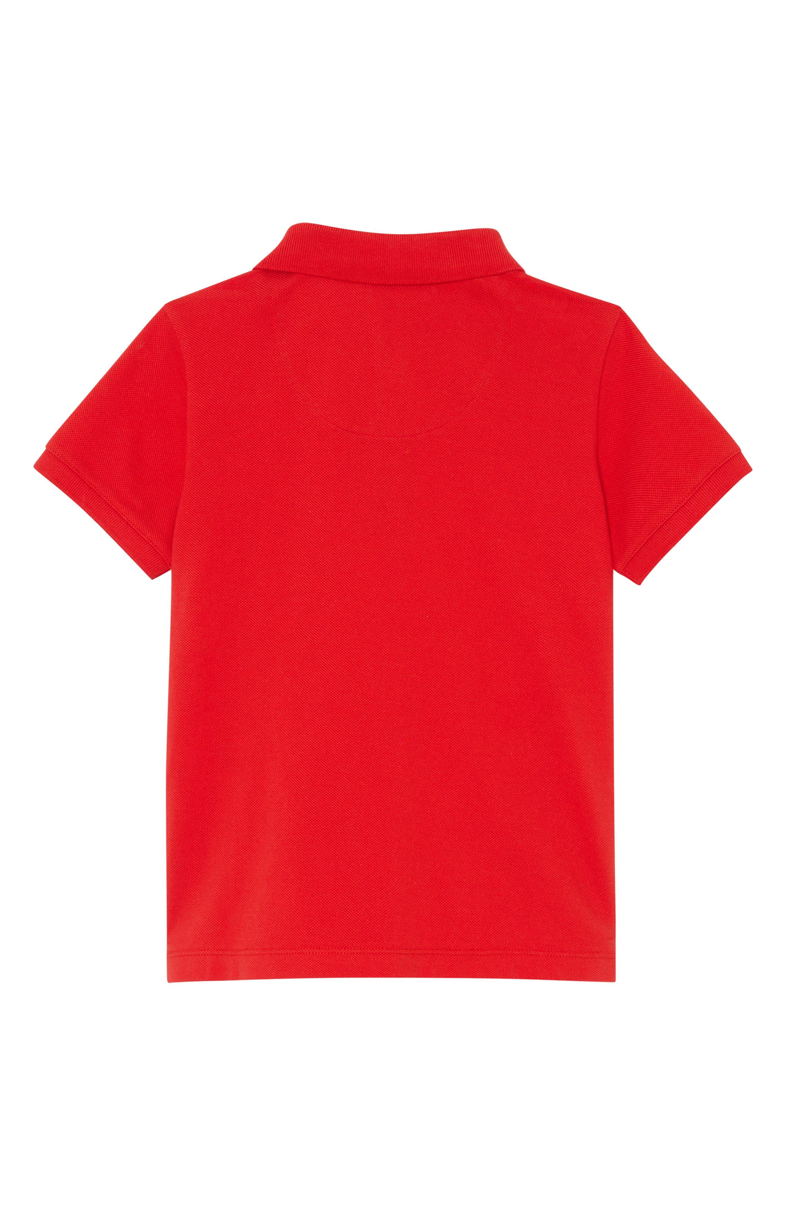 BURBERRY, Logo Cotton Piqué Polo, Alternate thumbnail 2, color, BRIGHT RED