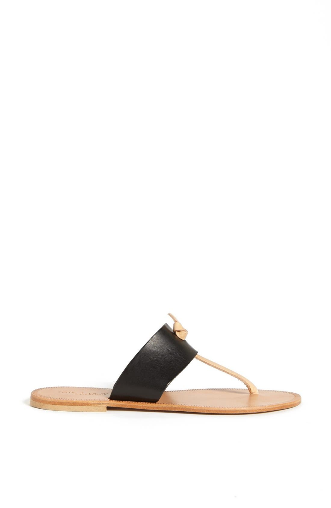 JOIE, a la Plage 'Nice' Flip Flop, Alternate thumbnail 5, color, 001