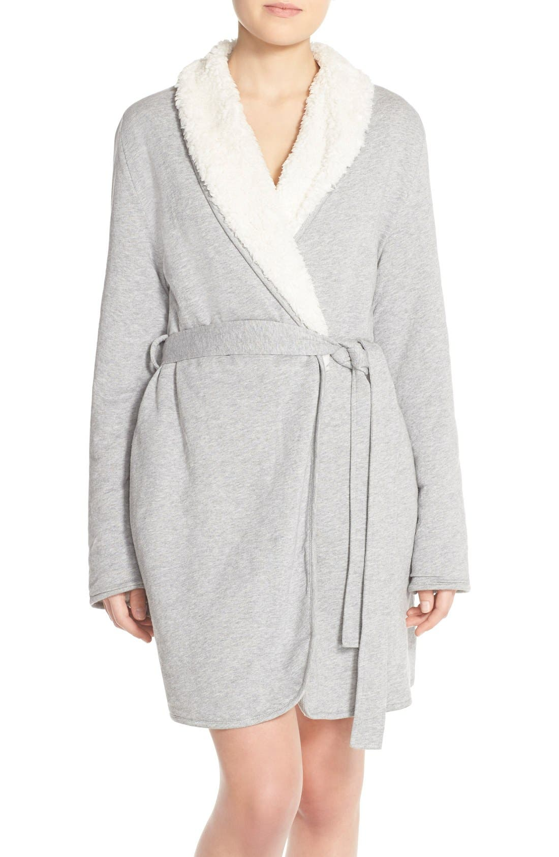 SPLENDID Faux Shearling Terry Robe, Main, color, 025