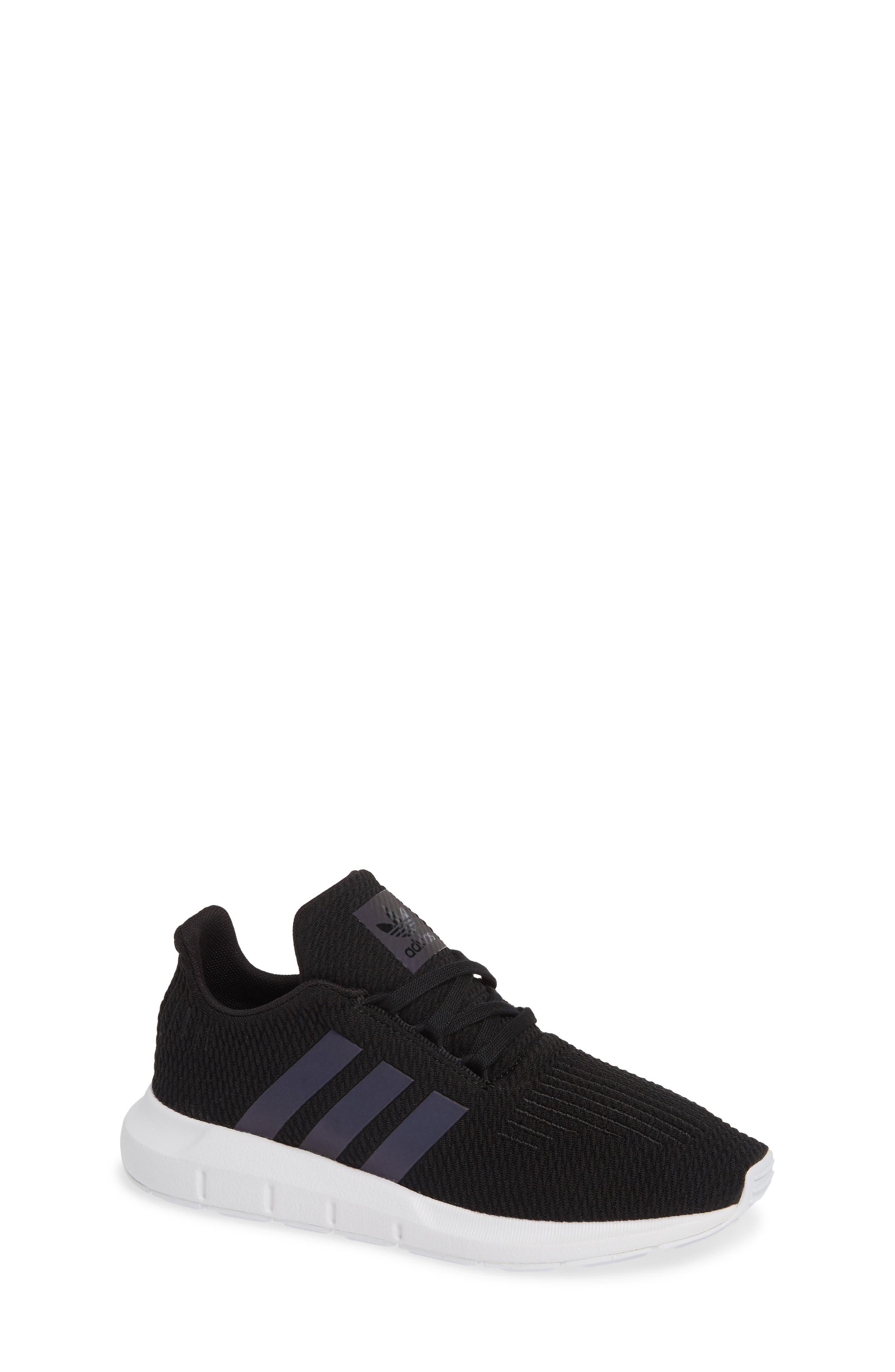 ADIDAS Swift Run J Sneaker, Main, color, CORE BLACK/ WHITE