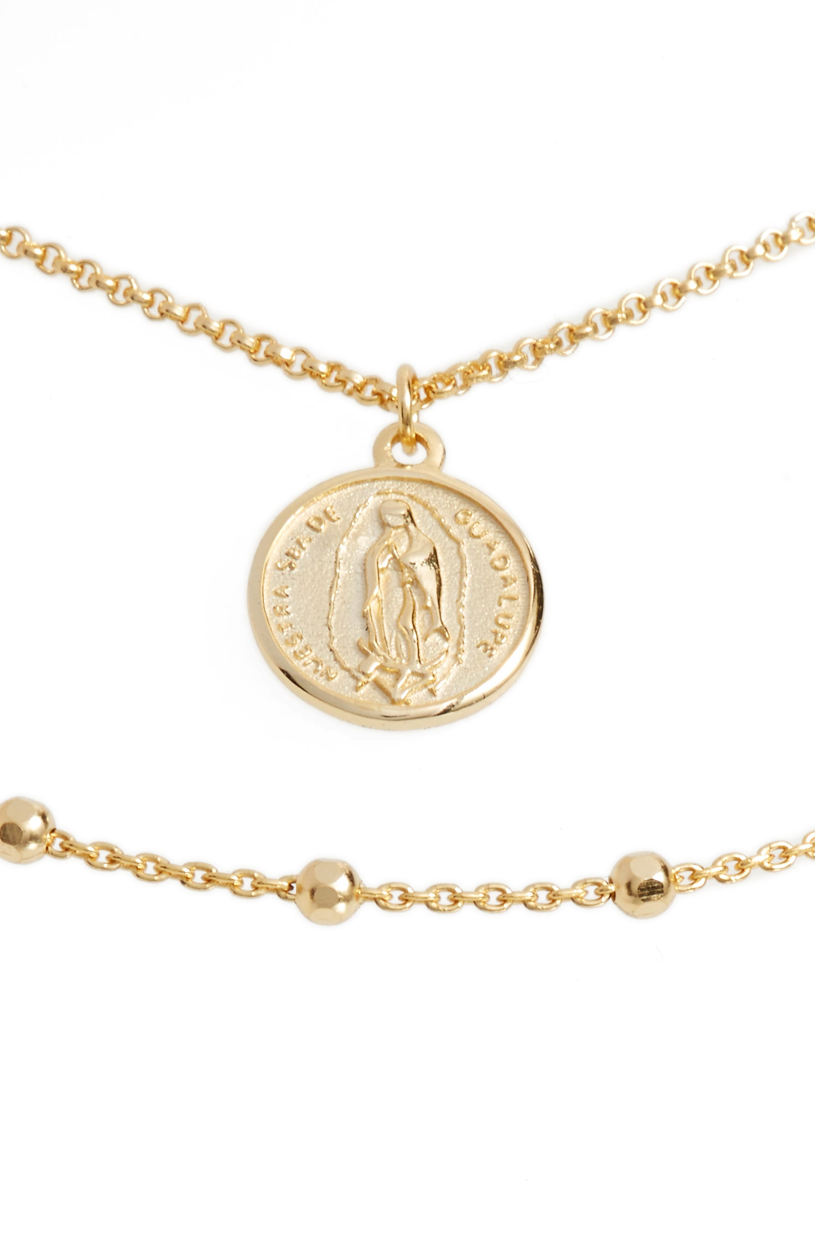 ARGENTO VIVO, Guadalupe Multistrand Necklace, Main thumbnail 1, color, GOLD