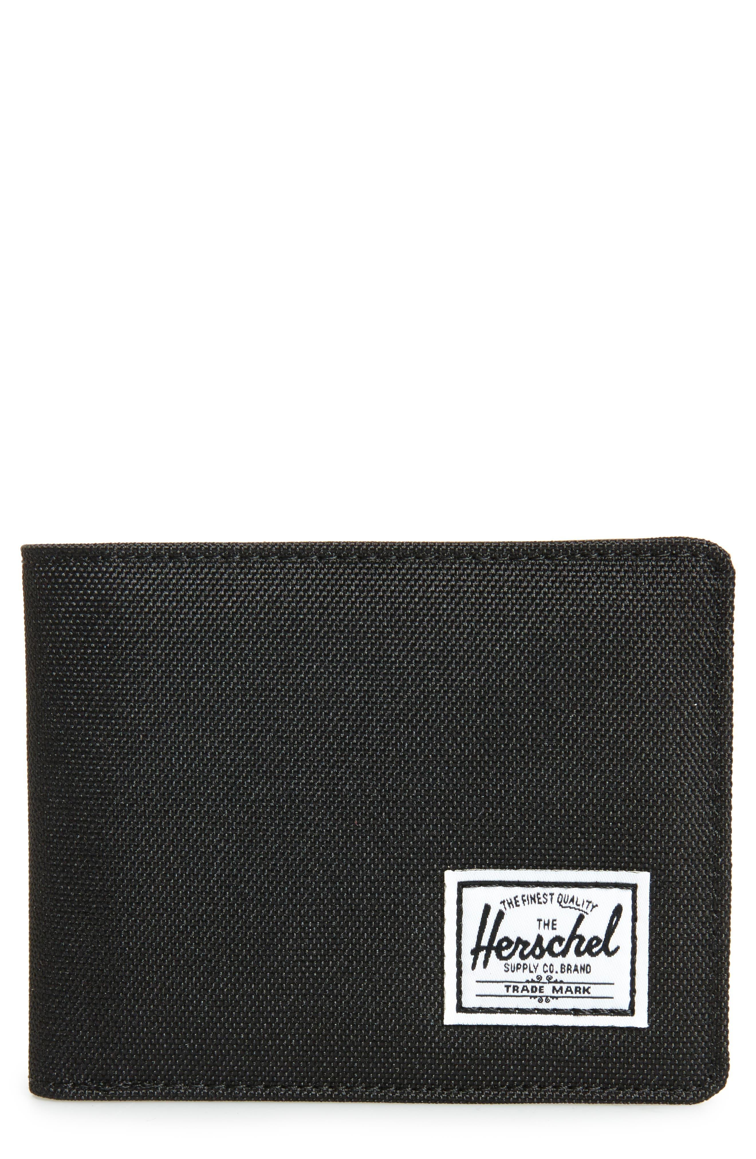 HERSCHEL SUPPLY CO., Hank RFID Bifold Wallet, Main thumbnail 1, color, BLACK