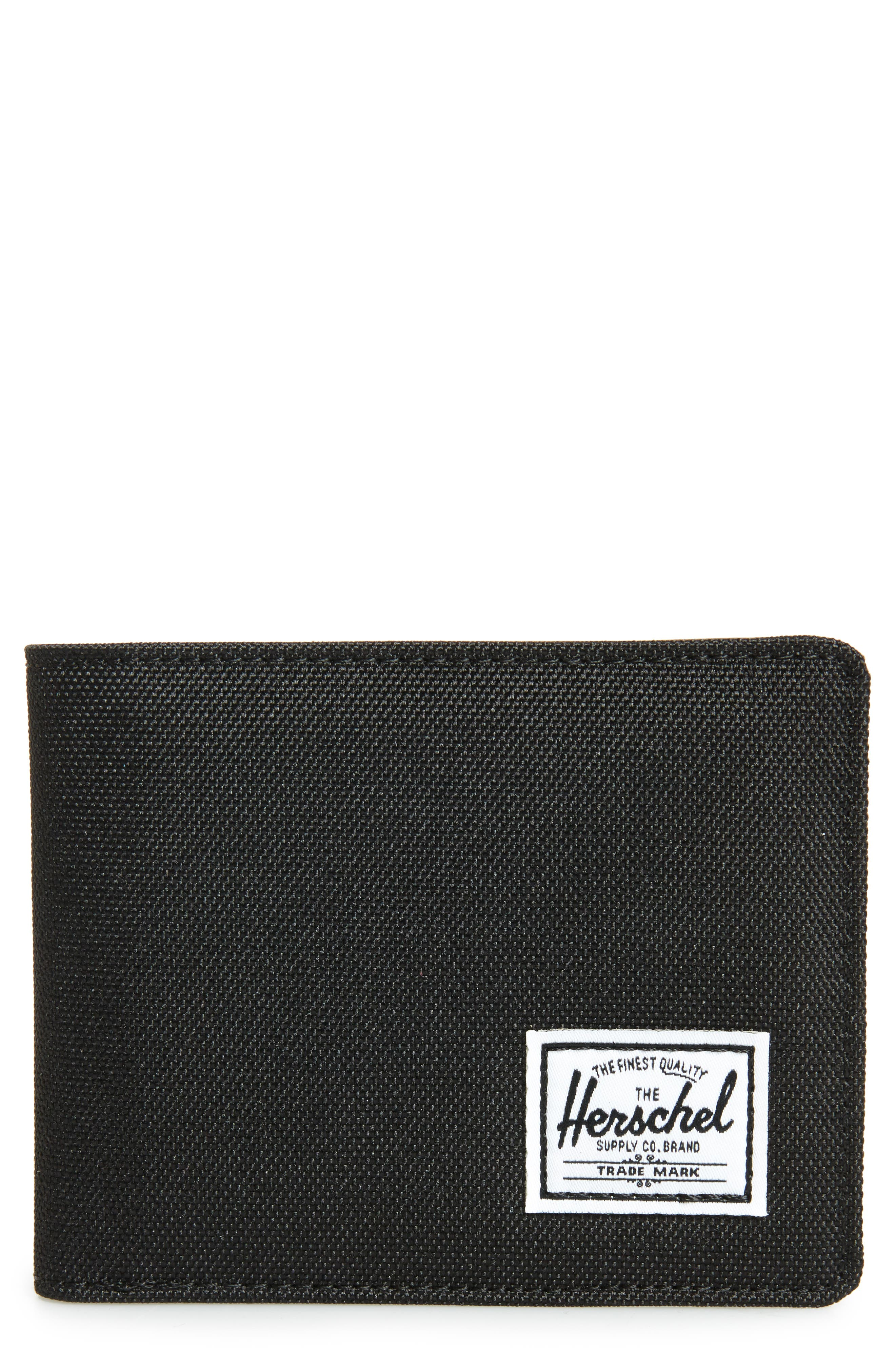 HERSCHEL SUPPLY CO. Hank RFID Bifold Wallet, Main, color, BLACK