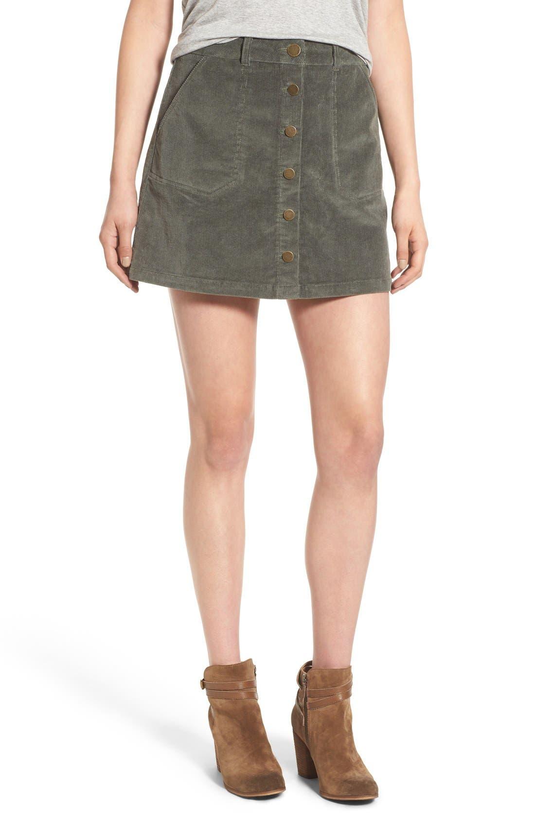 JOLT Corduroy A-Line Skirt, Main, color, 300