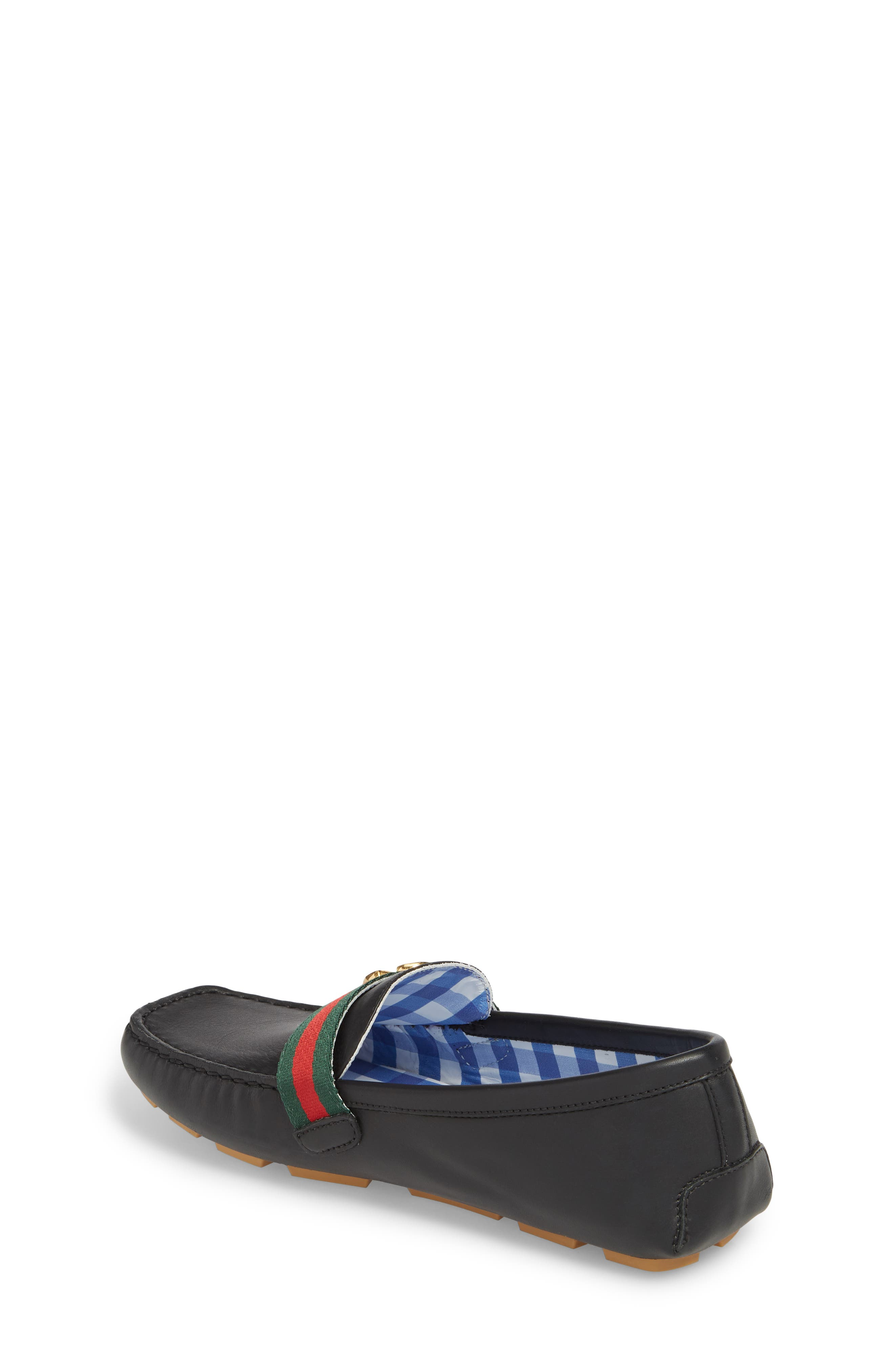 GUCCI, Noel Driving Loafer, Alternate thumbnail 2, color, BLACK
