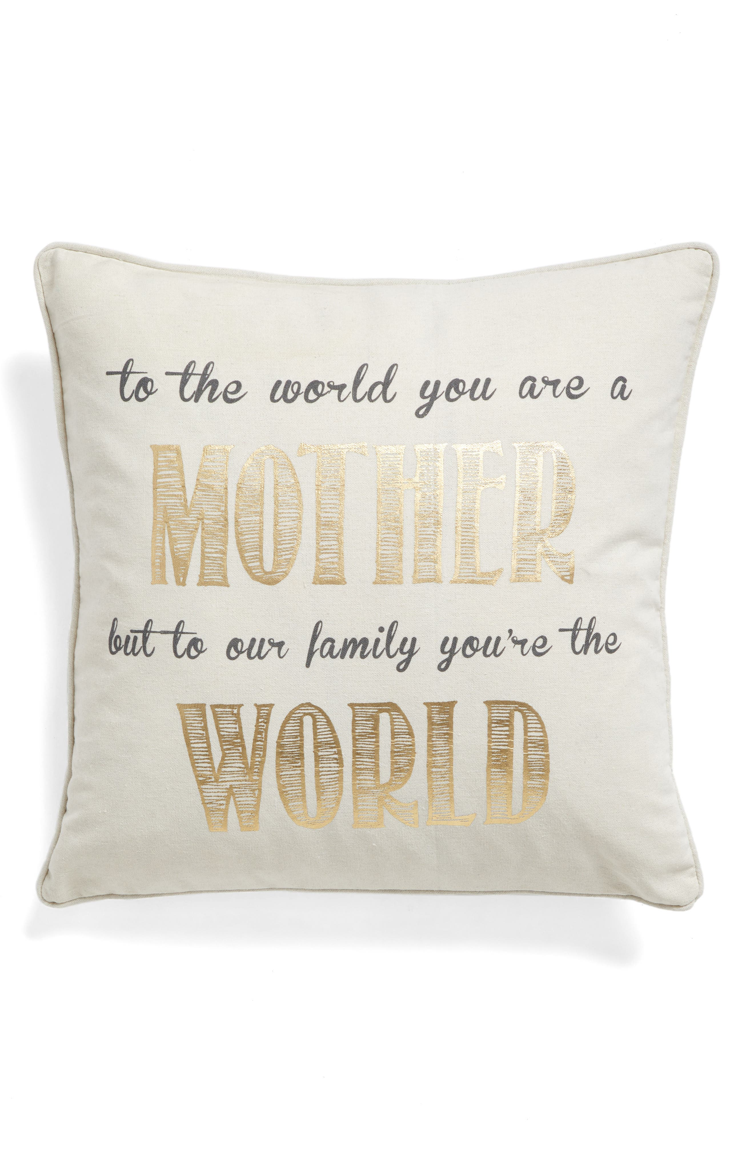 LEVTEX, Mother Accent Pillow, Main thumbnail 1, color, 900