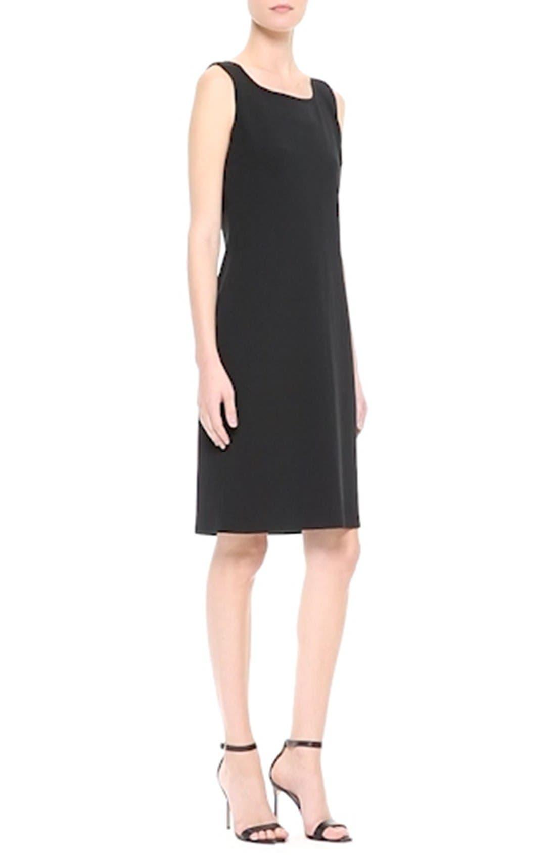 ST. JOHN COLLECTION, Milano Knit Sheath Dress, Alternate thumbnail 9, color, CAVIAR