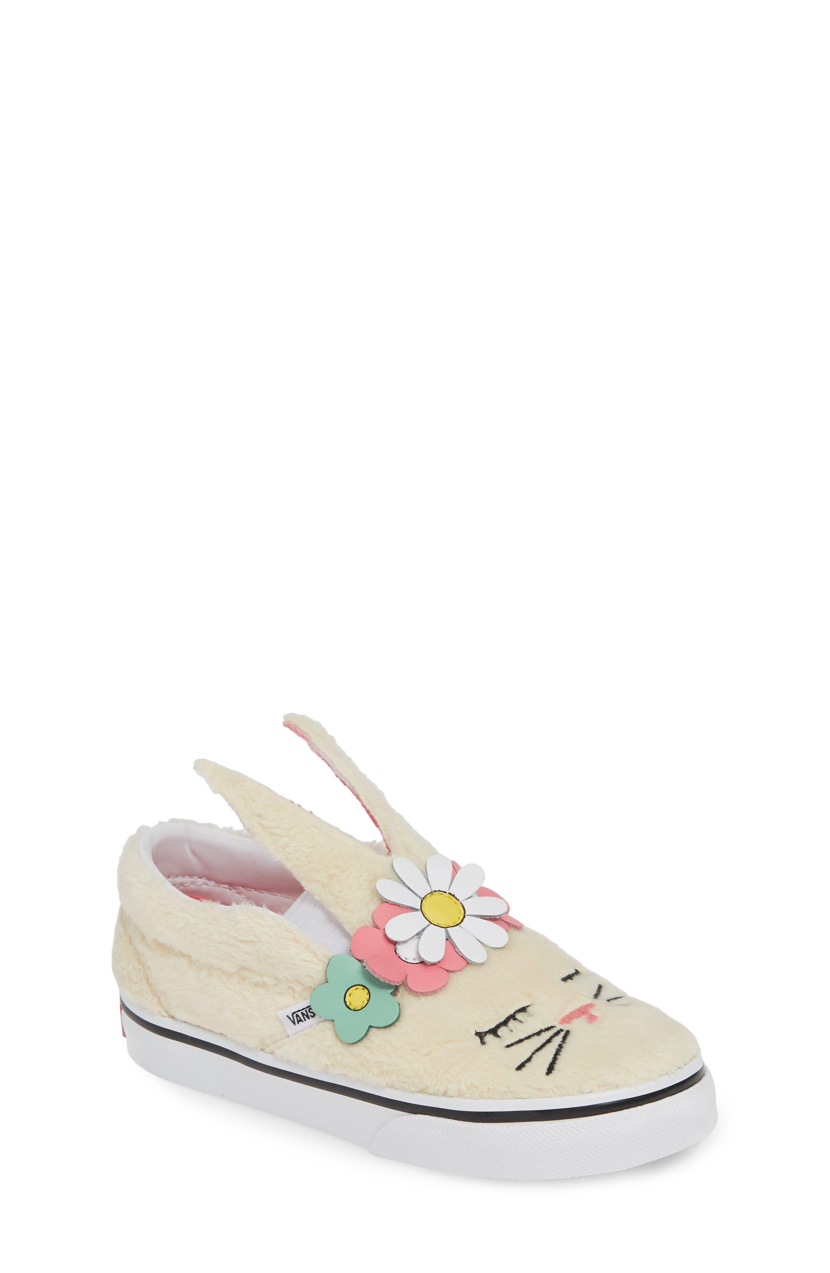 VANS, Slip-On Bunny Sneaker, Main thumbnail 1, color, VANILLA CUSTARD