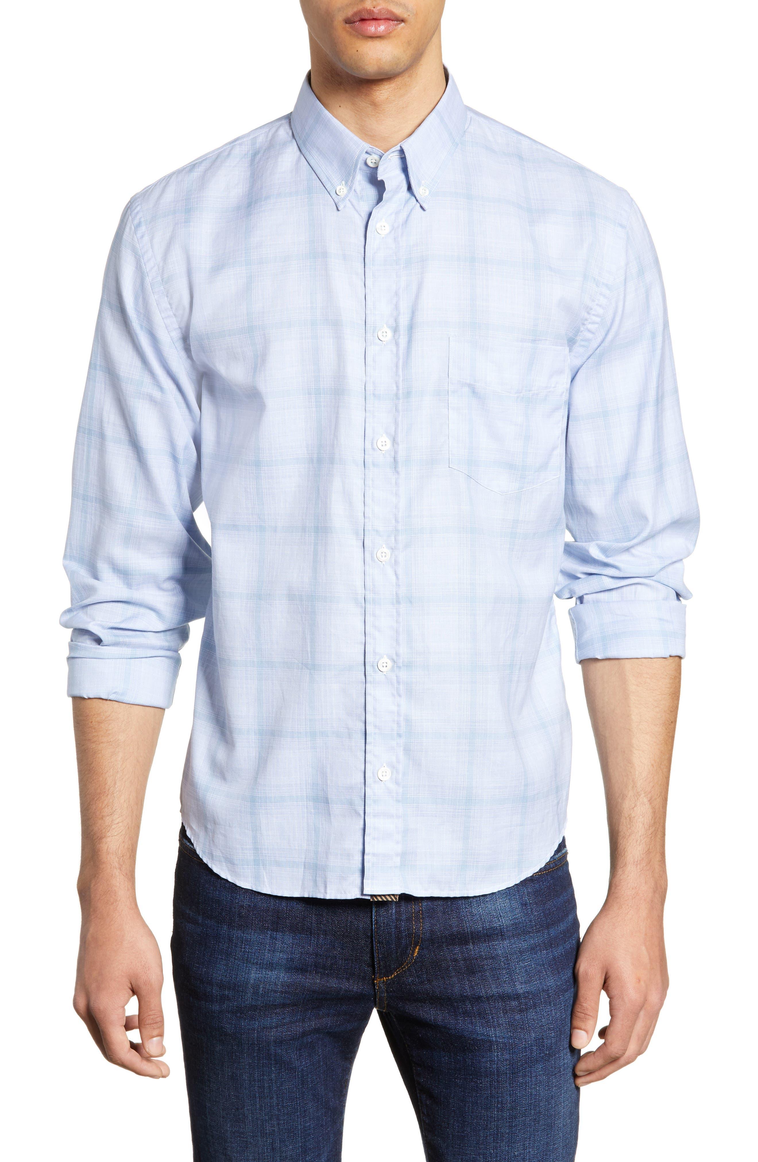 BILLY REID Kirby Slim Fit Sport Shirt, Main, color, BLUE