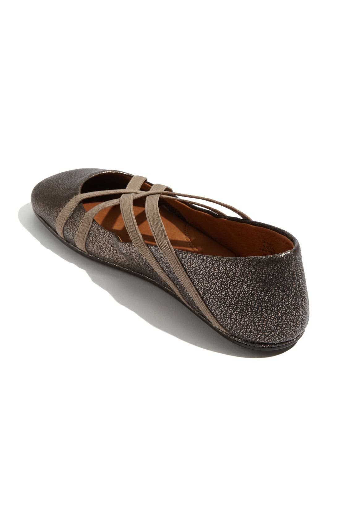 GENTLE SOULS BY KENNETH COLE, 'Bay Braid' Flat, Alternate thumbnail 2, color, ANTIQUE PEWTER