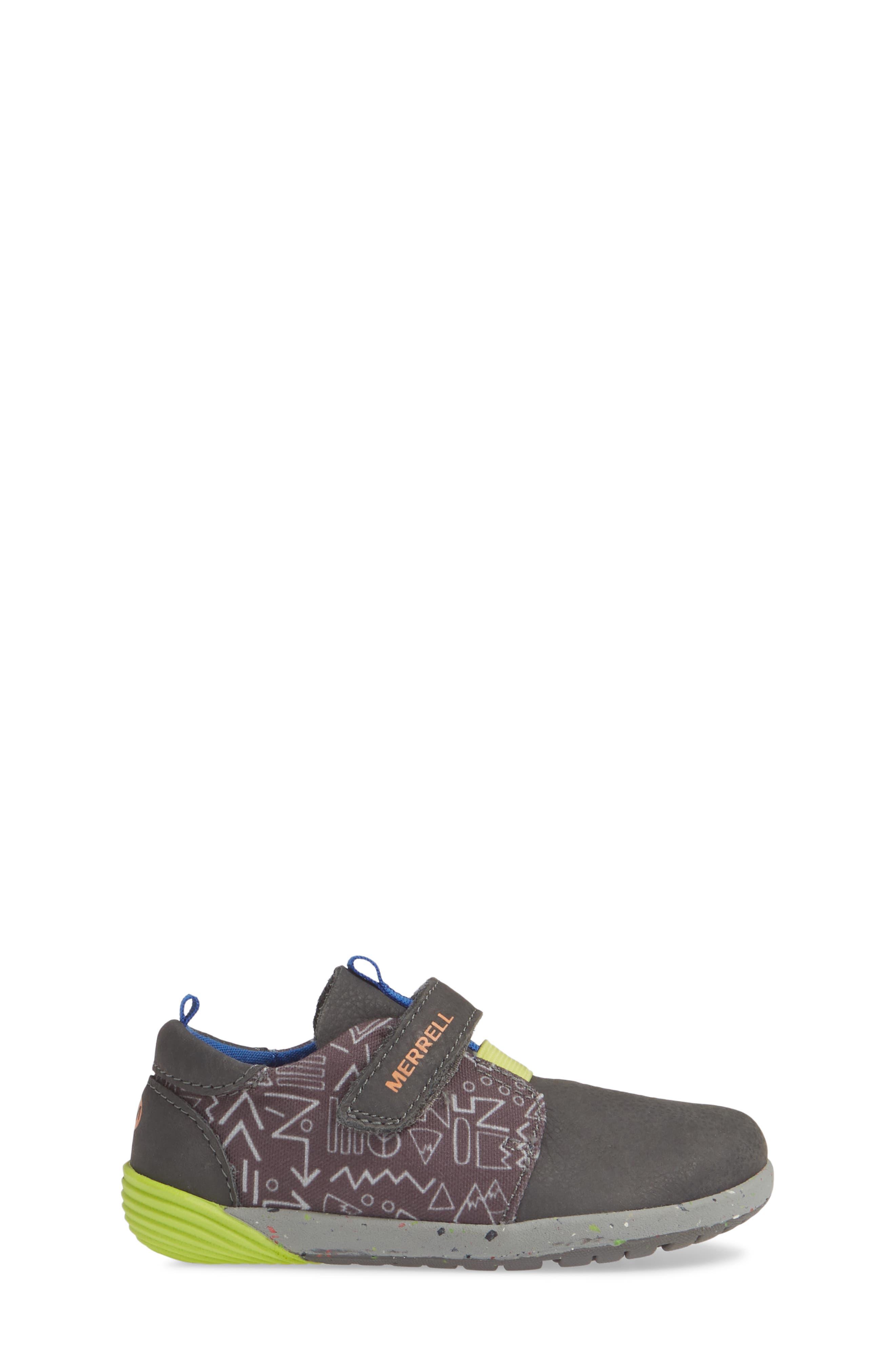 MERRELL, Bare Steps Sneaker, Alternate thumbnail 3, color, GREY