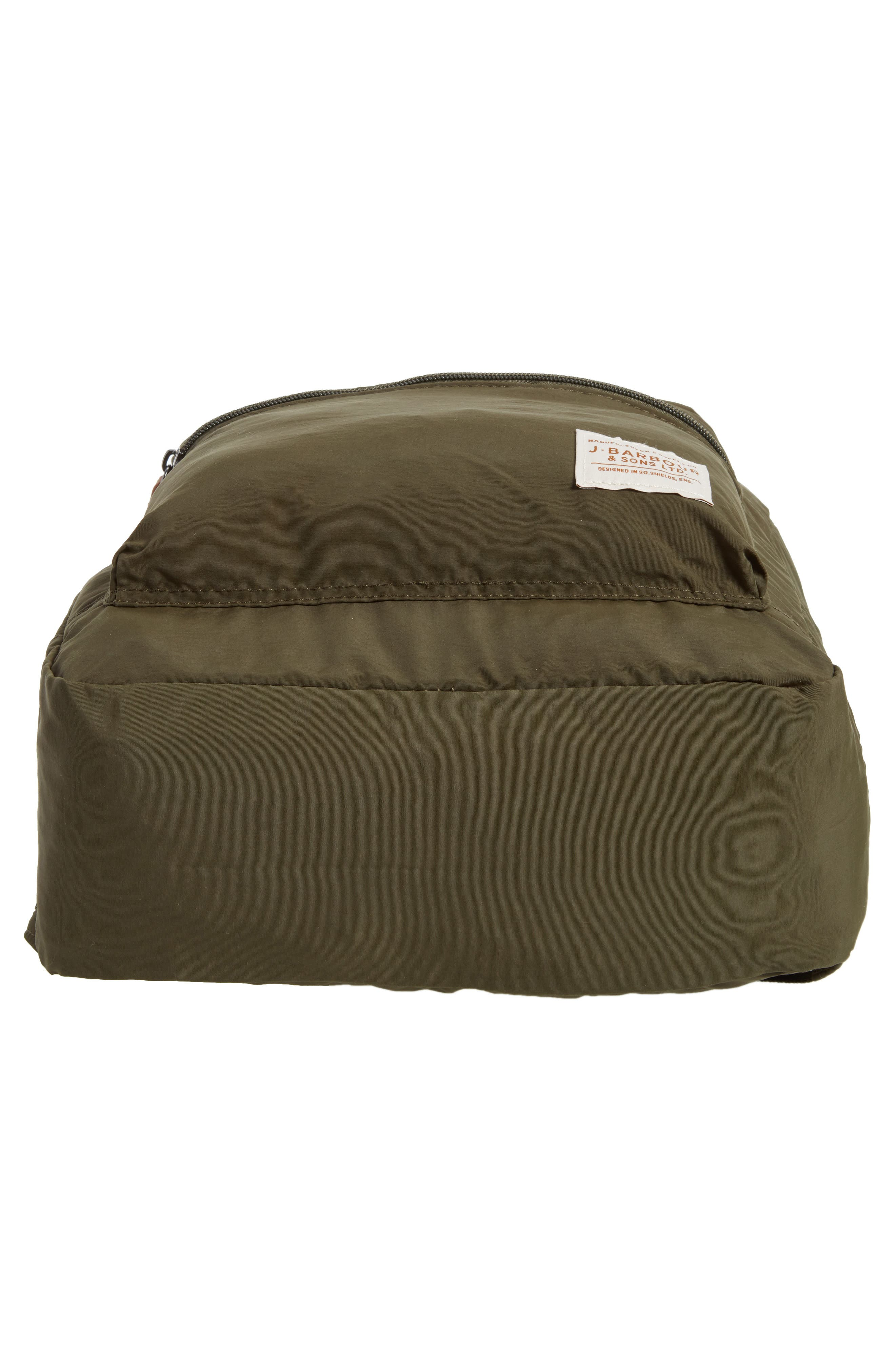 BARBOUR, Beauly Packable Backpack, Alternate thumbnail 6, color, DARK GREEN