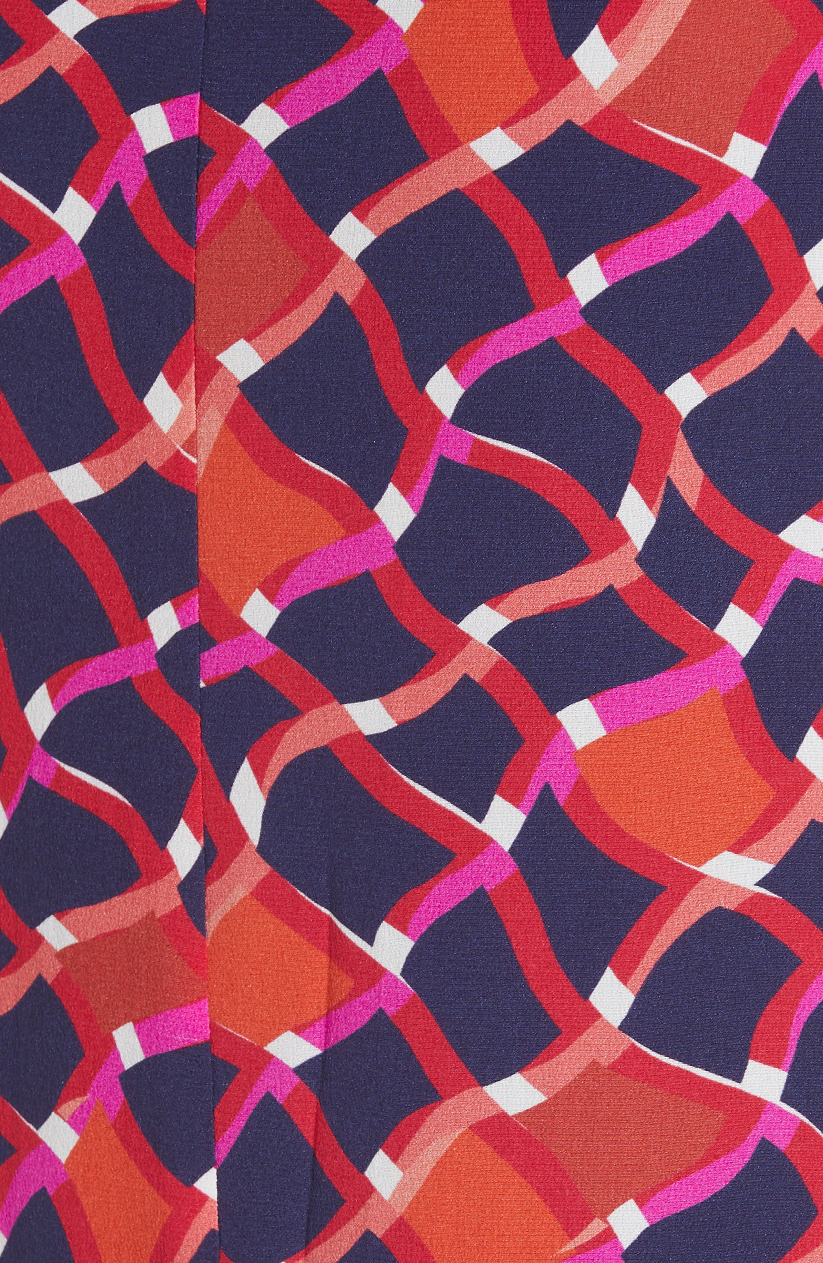 SALONI, Lexie Silk Asymmetrical Dress, Alternate thumbnail 5, color, MAZE