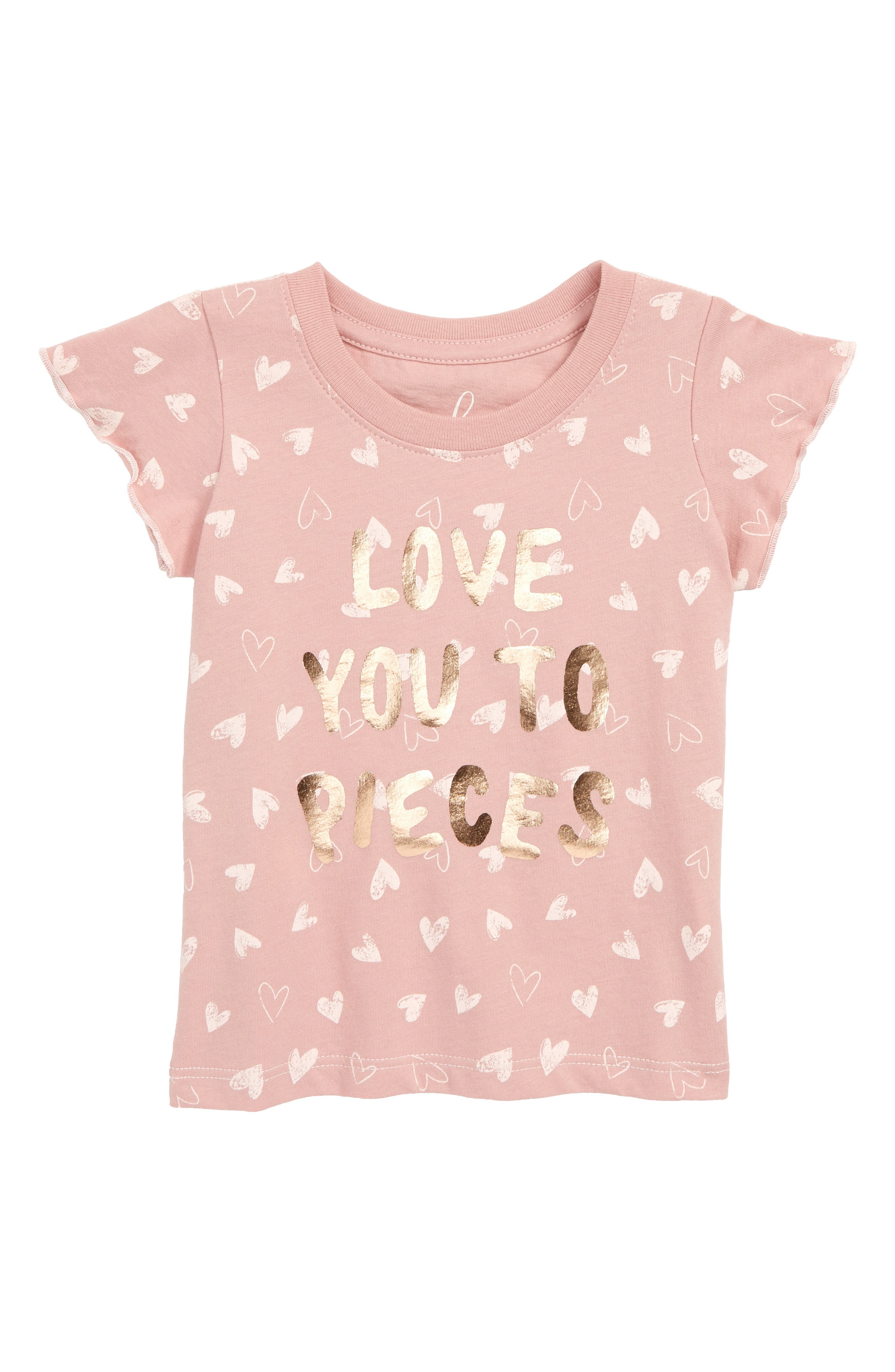 PEEK ESSENTIALS, Peek Love You to Pieces Graphic T-Shirt, Main thumbnail 1, color, PINK