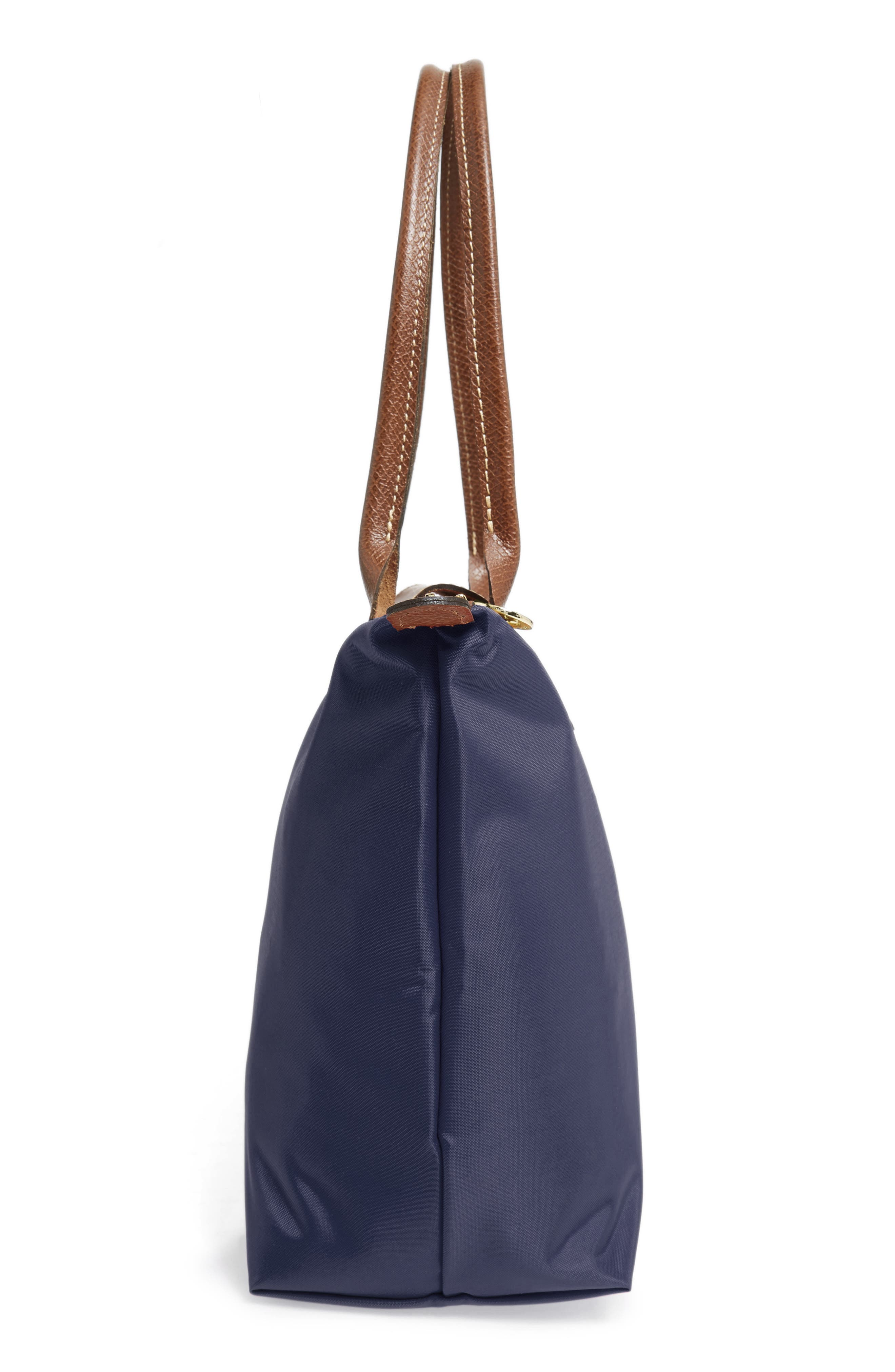 LONGCHAMP, 'Small Le Pliage' Tote, Alternate thumbnail 5, color, NEW NAVY
