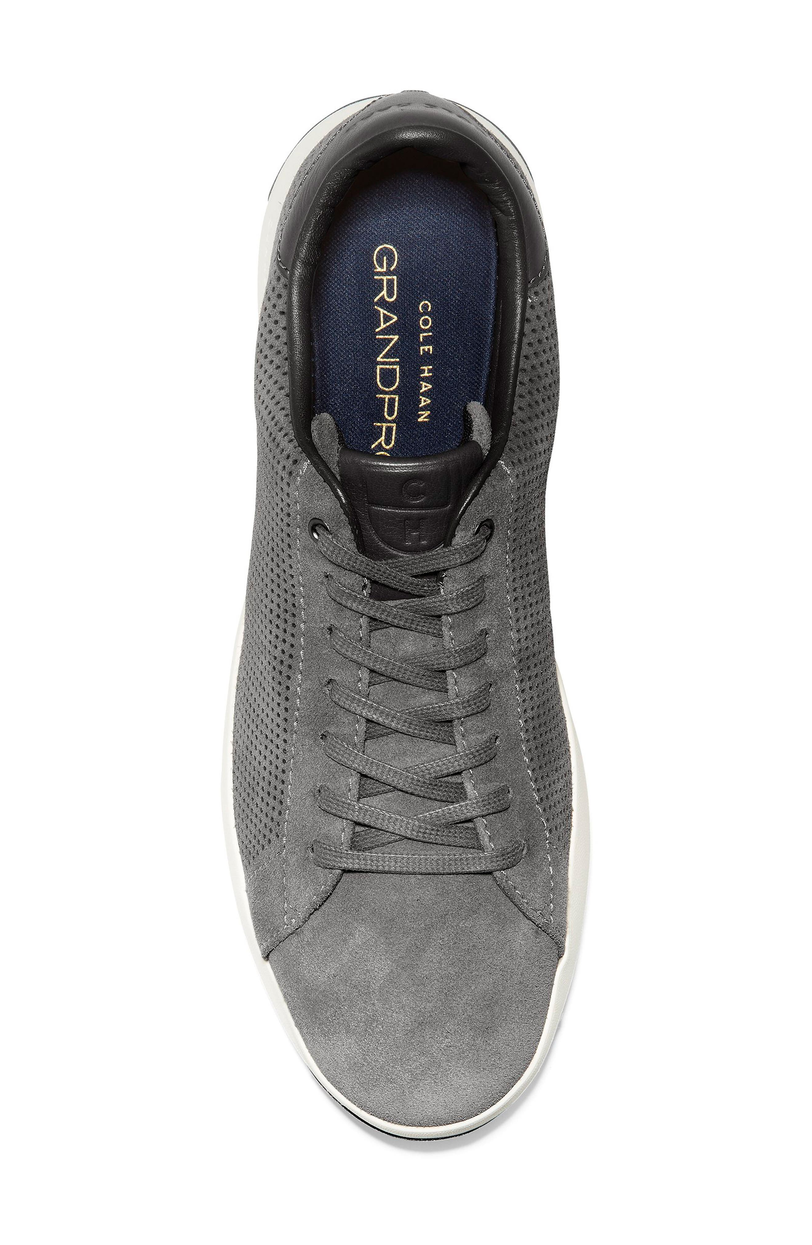 COLE HAAN, GrandPro Tennis Sneaker, Alternate thumbnail 5, color, GREY SUEDE