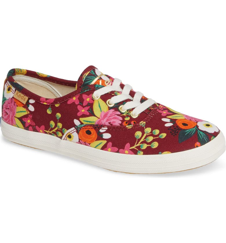 74a25c1340a82 Keds® x Rifle Paper Co. Floral Print Champion Sneaker (Baby