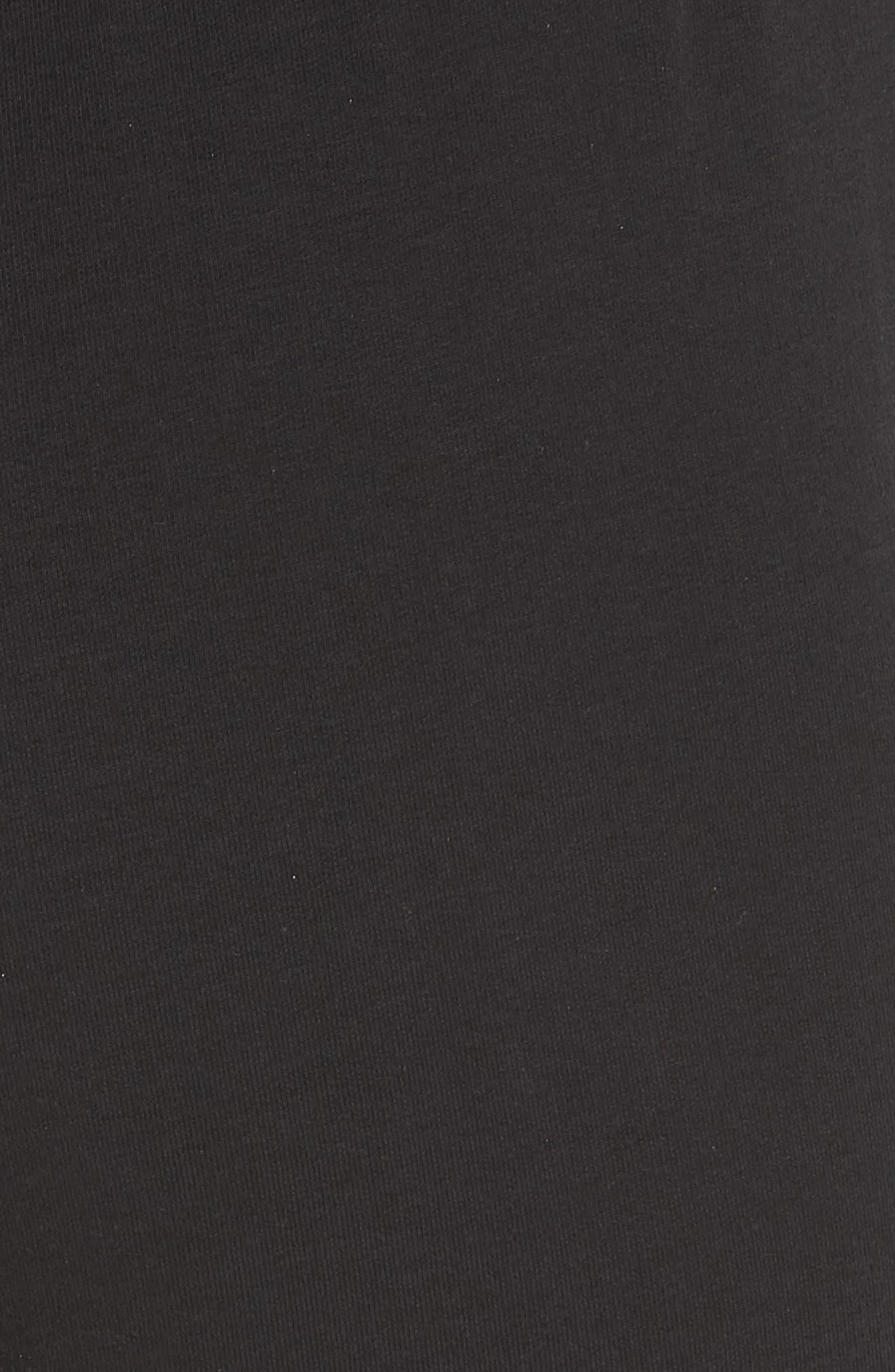 L'AGENCE, Elsie Charmeuse Zip Hem Joggers, Alternate thumbnail 5, color, BLACK/ BLACK COMBO