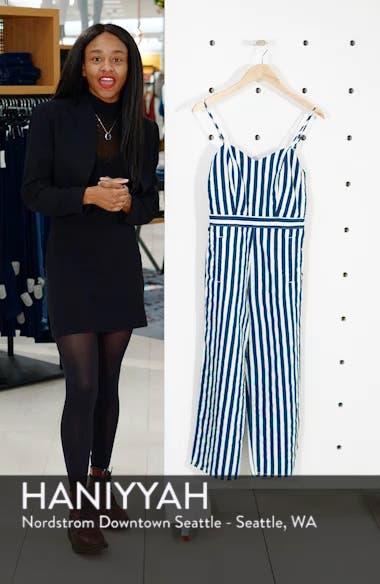 The Cut It Out Stripe Jumpsuit, sales video thumbnail