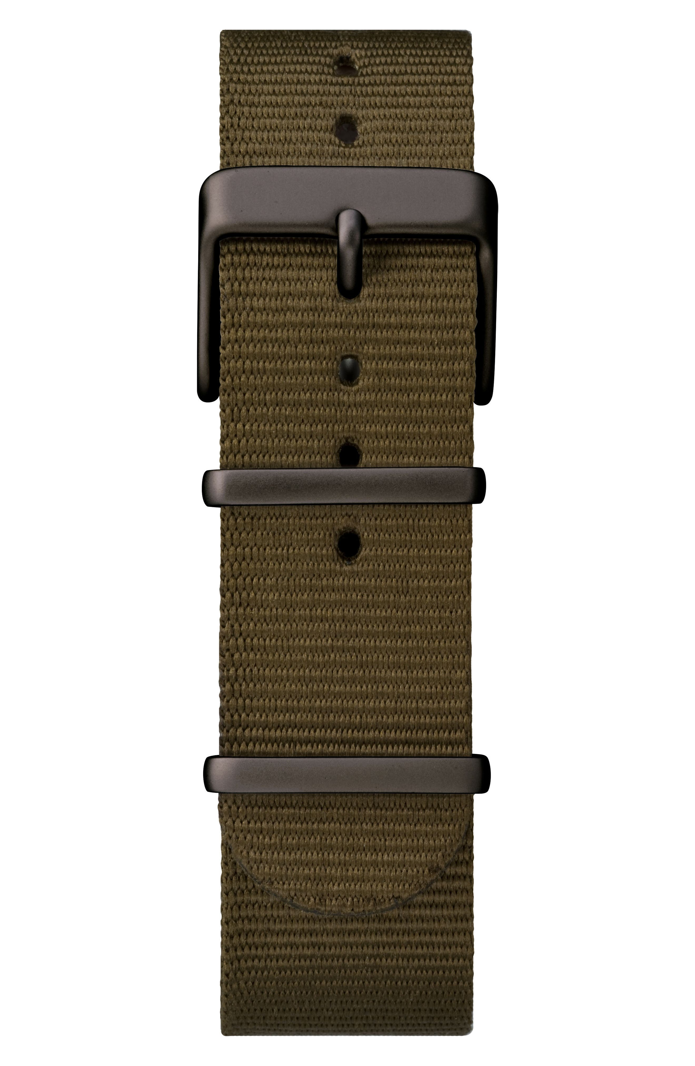 TIMEX<SUP>®</SUP>, Timex MK1 Nylon Strap Watch, 40mm, Alternate thumbnail 3, color, OLIVE/ SILVER/ GREY