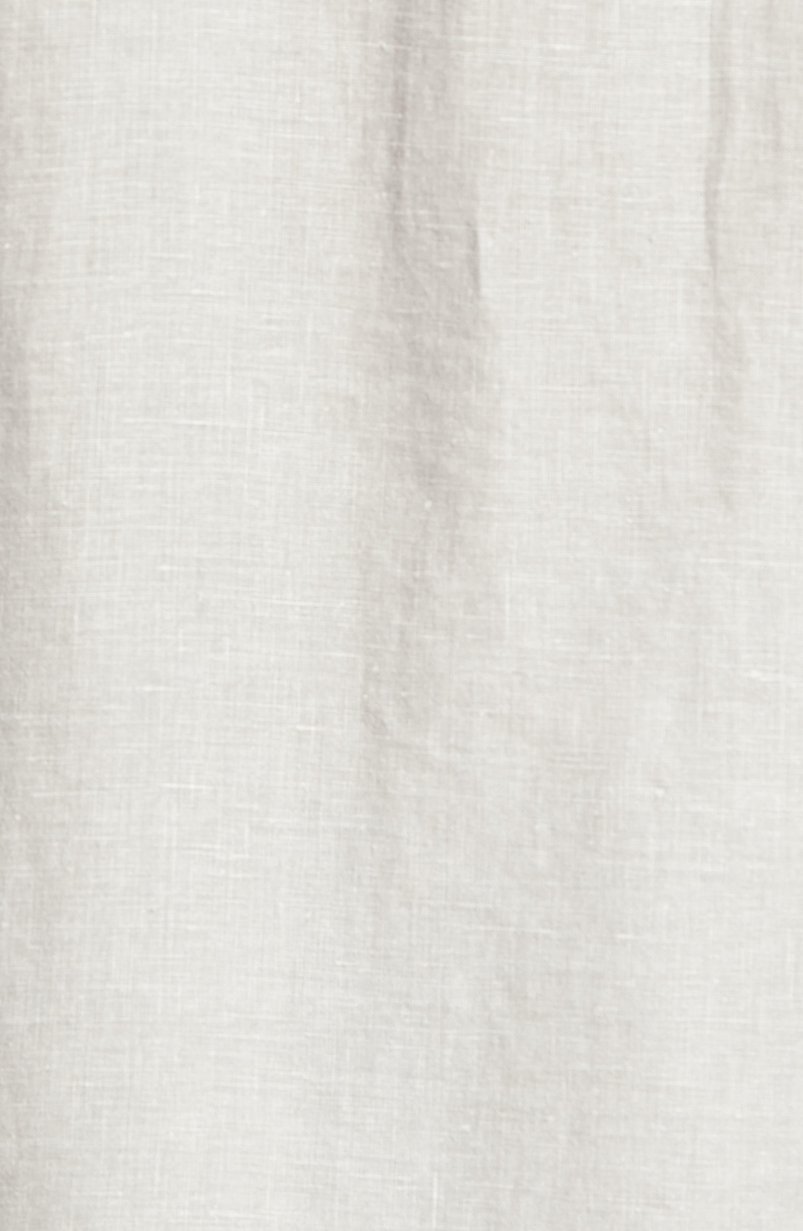 TOMMY BAHAMA, 'Sea Glass Breezer' Original Fit Linen Shirt, Alternate thumbnail 5, color, LIGHT GREY