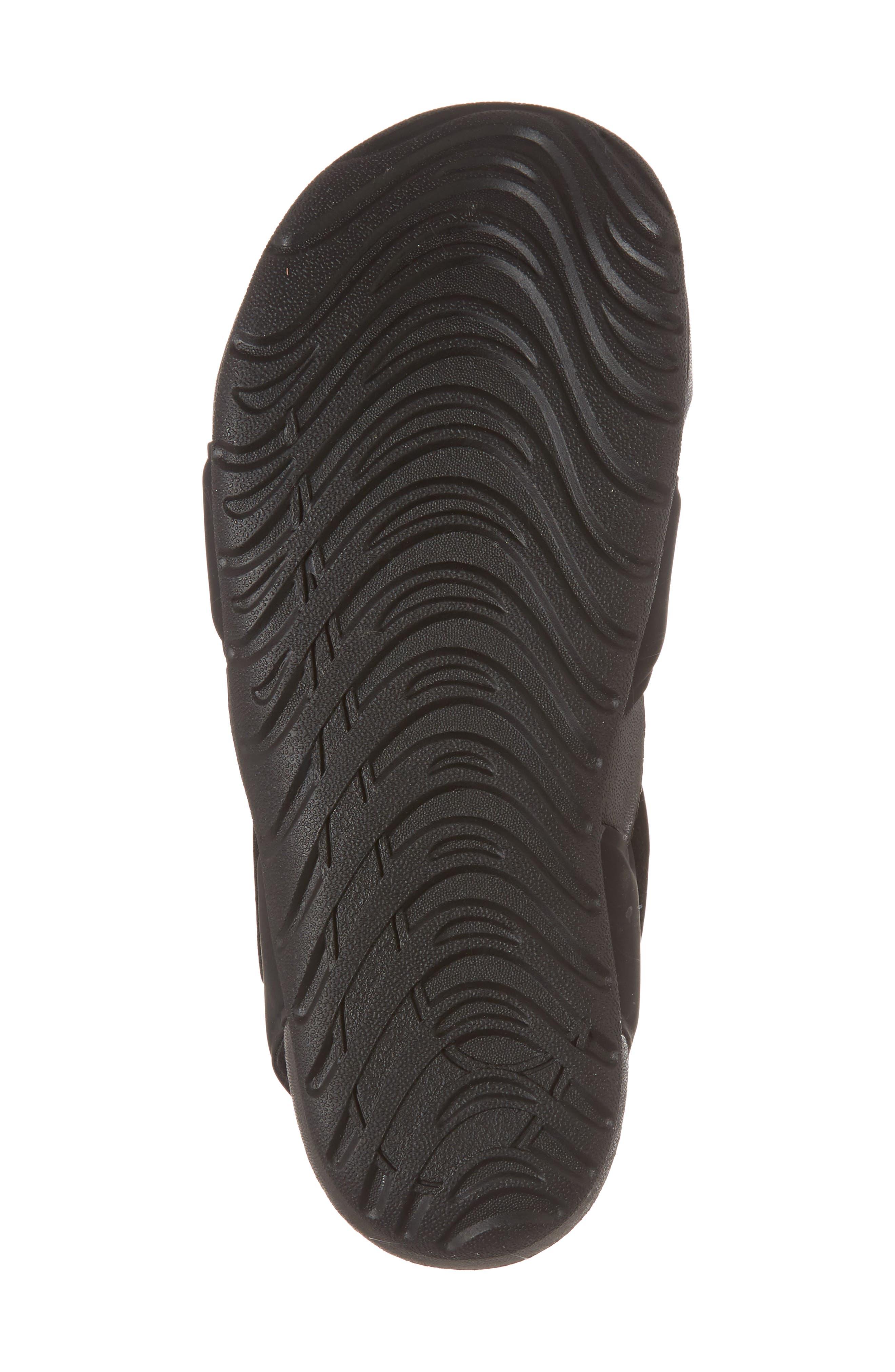 NIKE, Sunray Protect 2 Sandal, Alternate thumbnail 6, color, BLACK/ WHITE