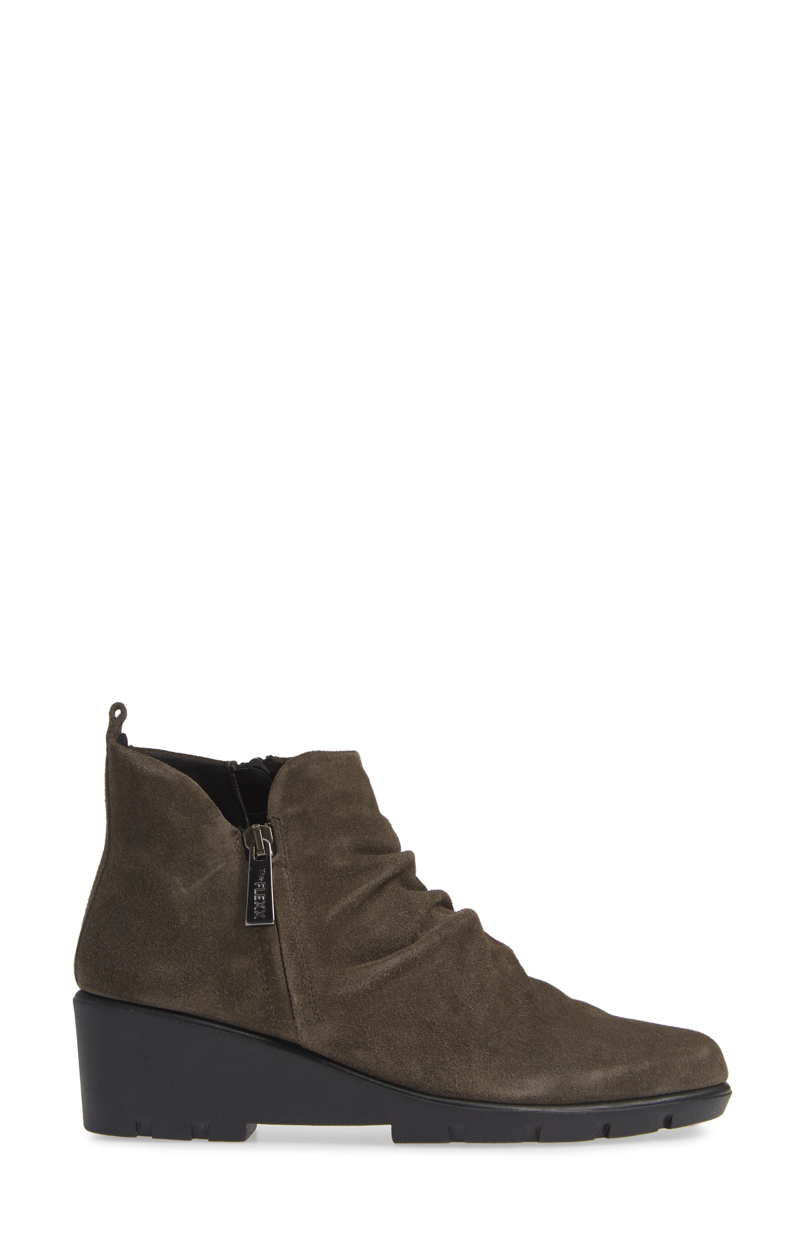 THE FLEXX, Slingshot Ankle Bootie, Alternate thumbnail 3, color, BROWN SUEDE