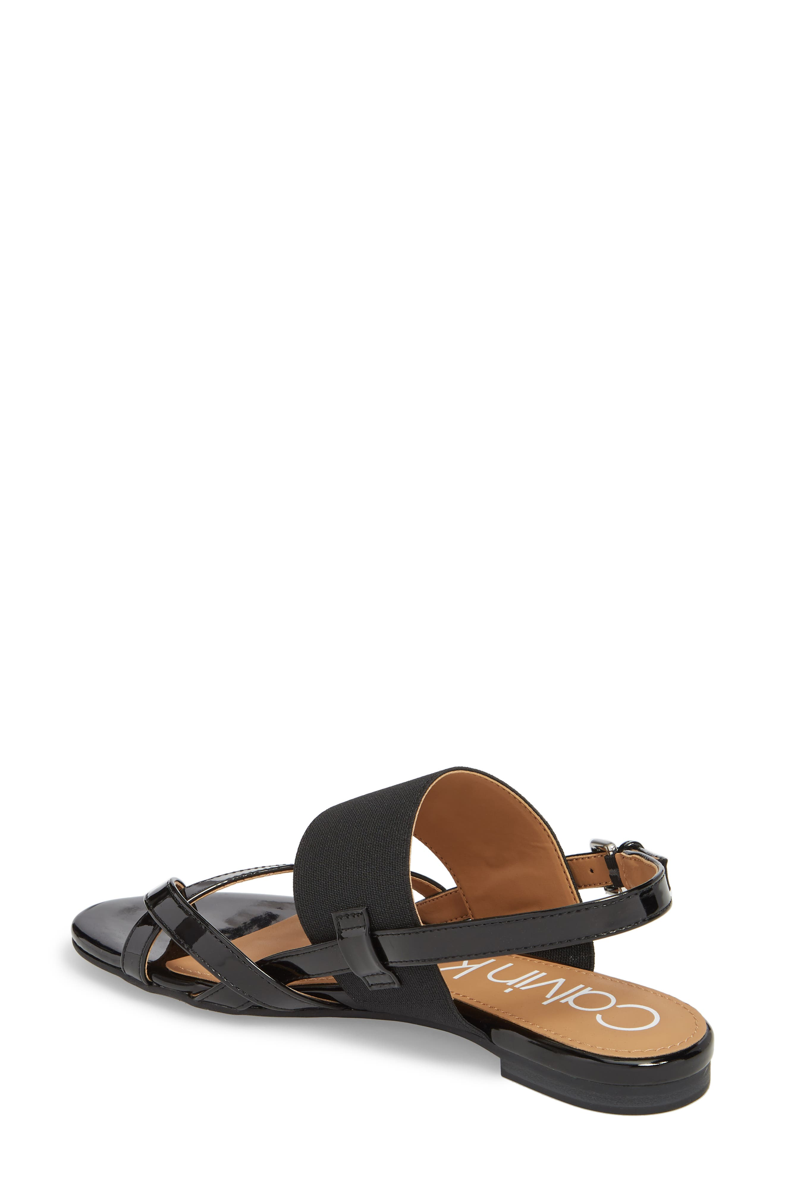 CALVIN KLEIN, Berry Sandal, Alternate thumbnail 2, color, 001