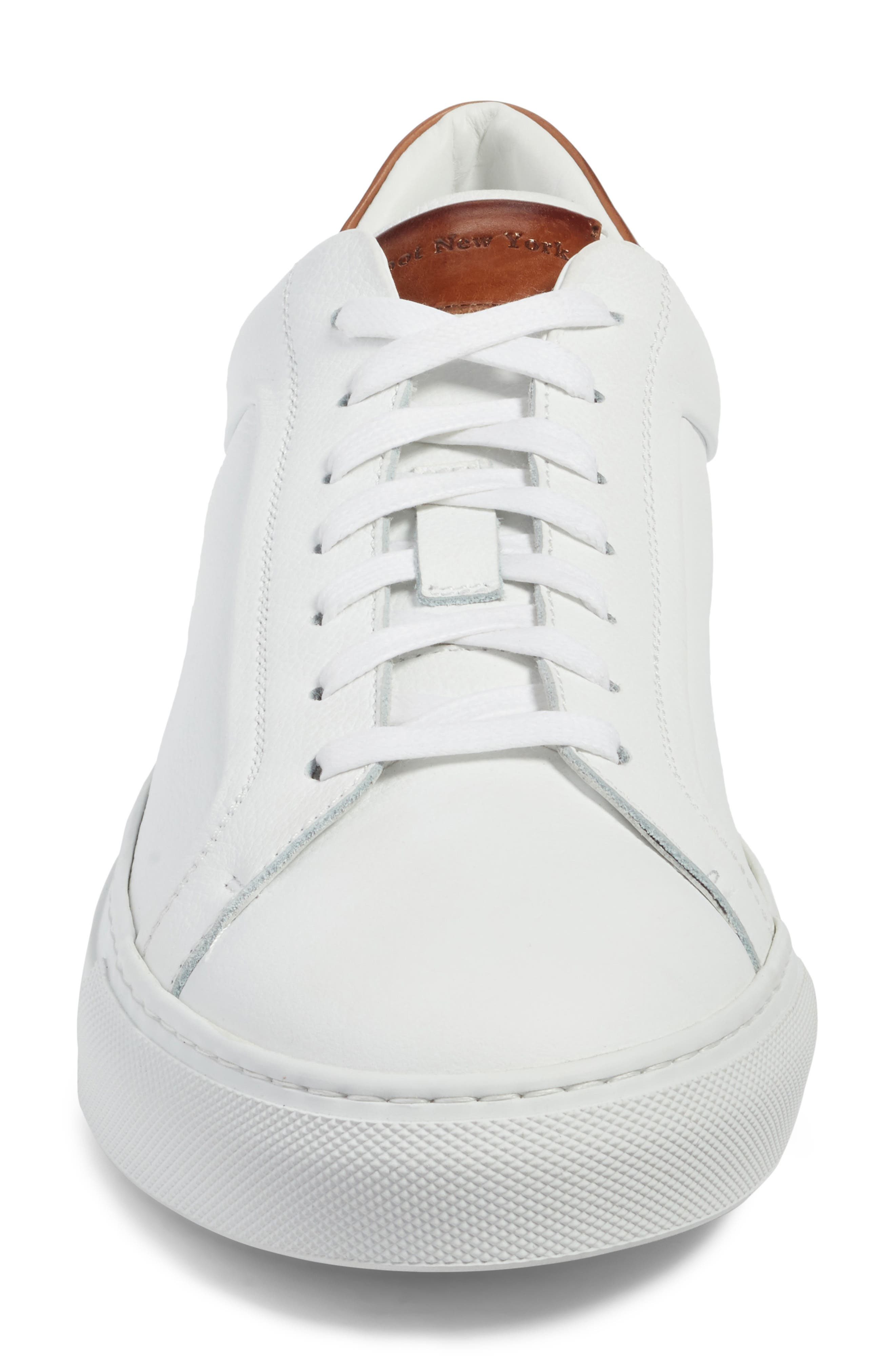 TO BOOT NEW YORK, Carlin Sneaker, Alternate thumbnail 4, color, WHITE/ TAN LEATHER