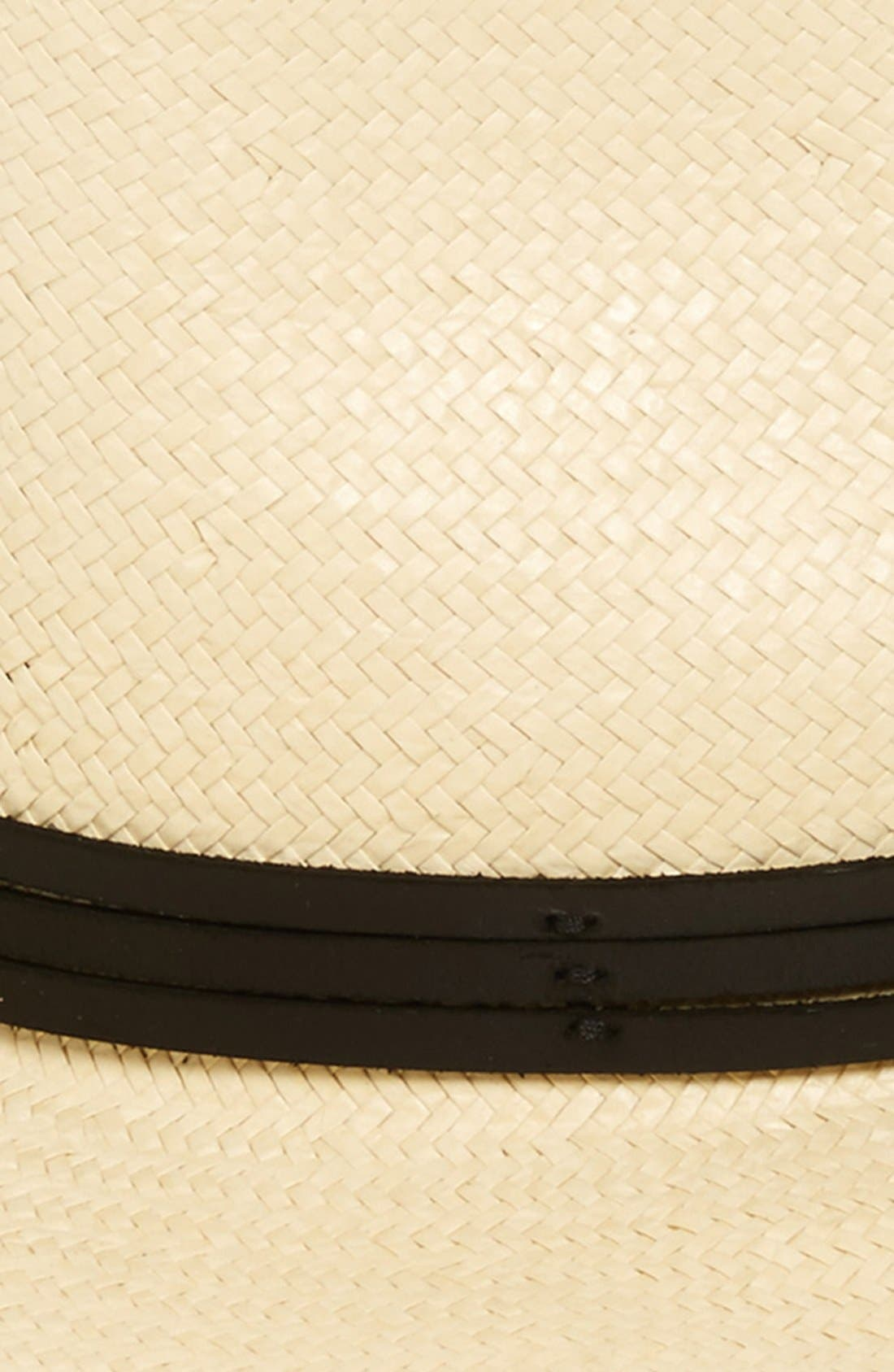 BRIXTON, 'Pacific' Straw Fedora, Alternate thumbnail 5, color, BEIGE