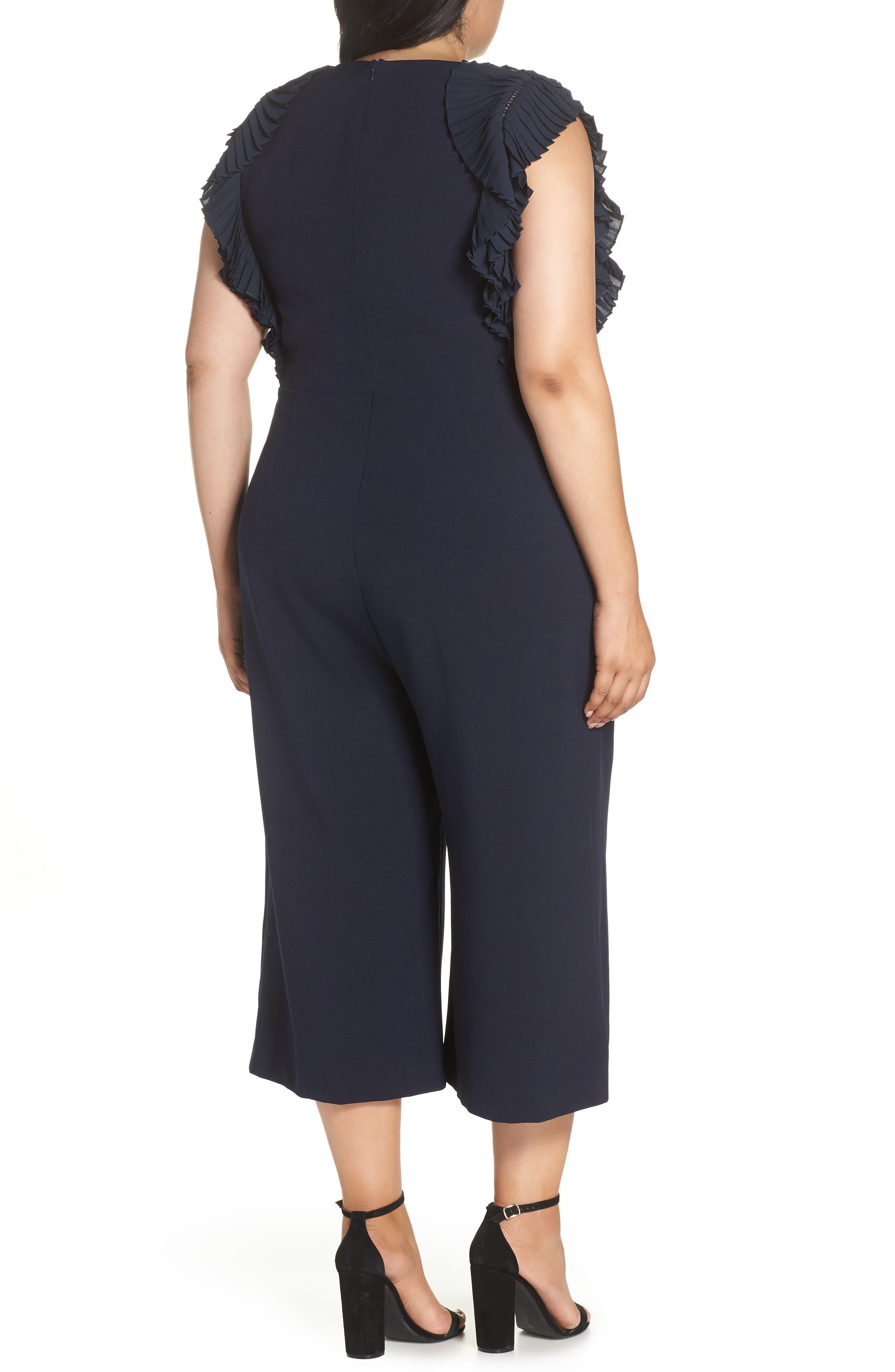 CHELSEA28, Pleat Shoulder Crop Jumpsuit, Alternate thumbnail 2, color, 401