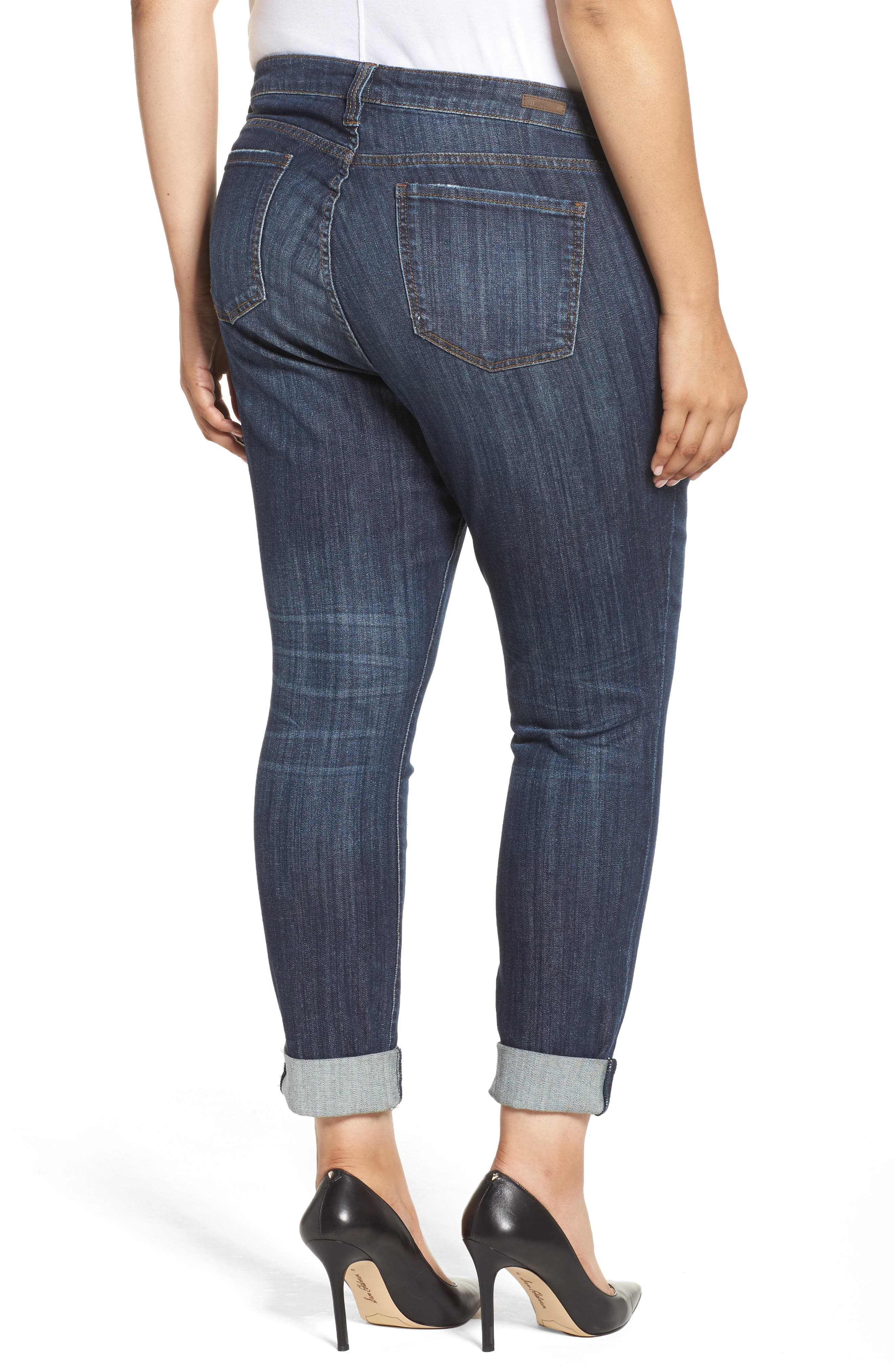 KUT FROM THE KLOTH, Catherine Boyfriend Jeans, Alternate thumbnail 2, color, 489