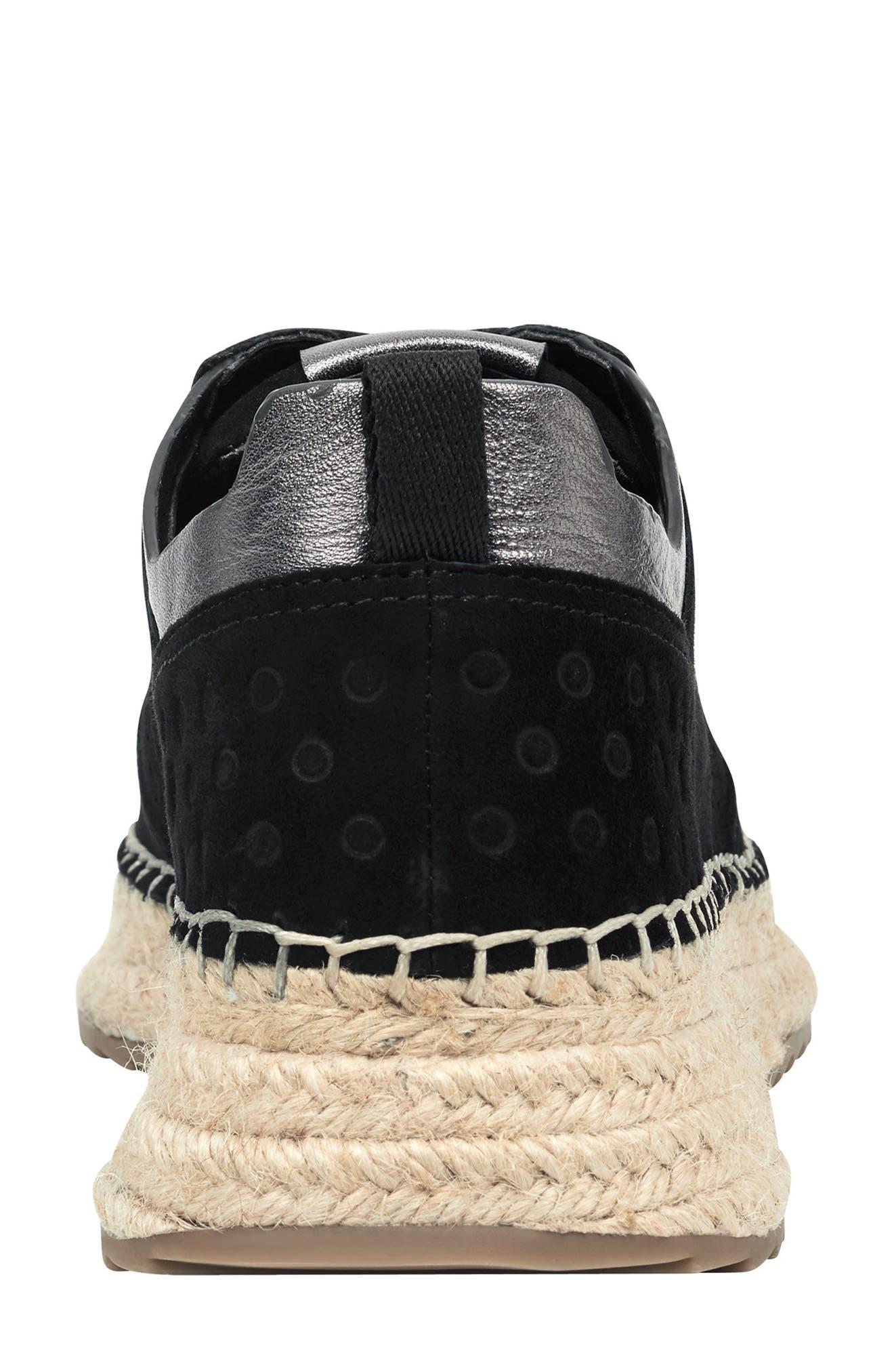 MARC FISHER LTD, Julio Sneaker, Alternate thumbnail 6, color, BLACK SUEDE