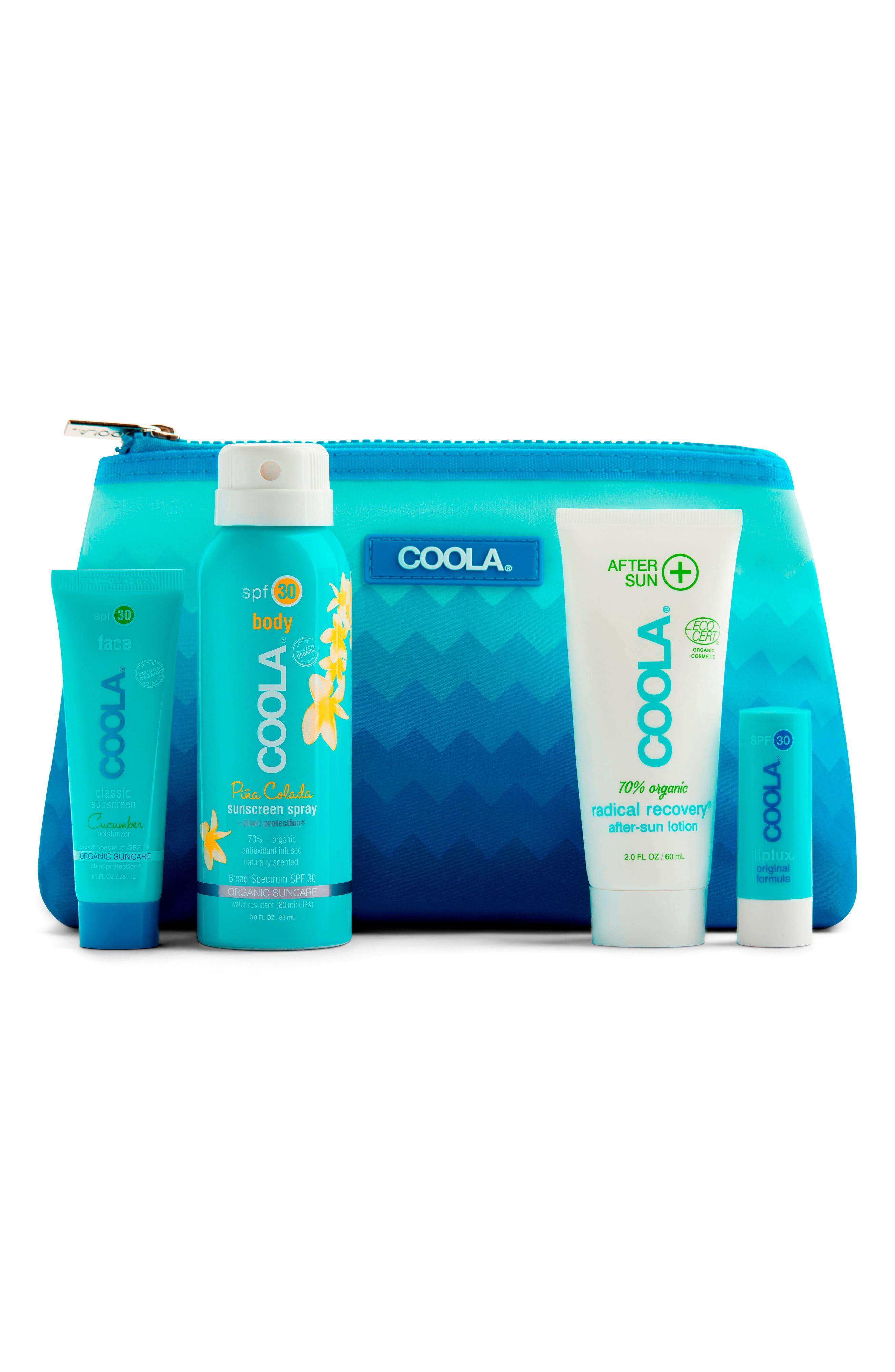 COOLA SUNCARE, COOLA<sup>®</sup> Suncare Signature Travel Kit, Main thumbnail 1, color, NO COLOR