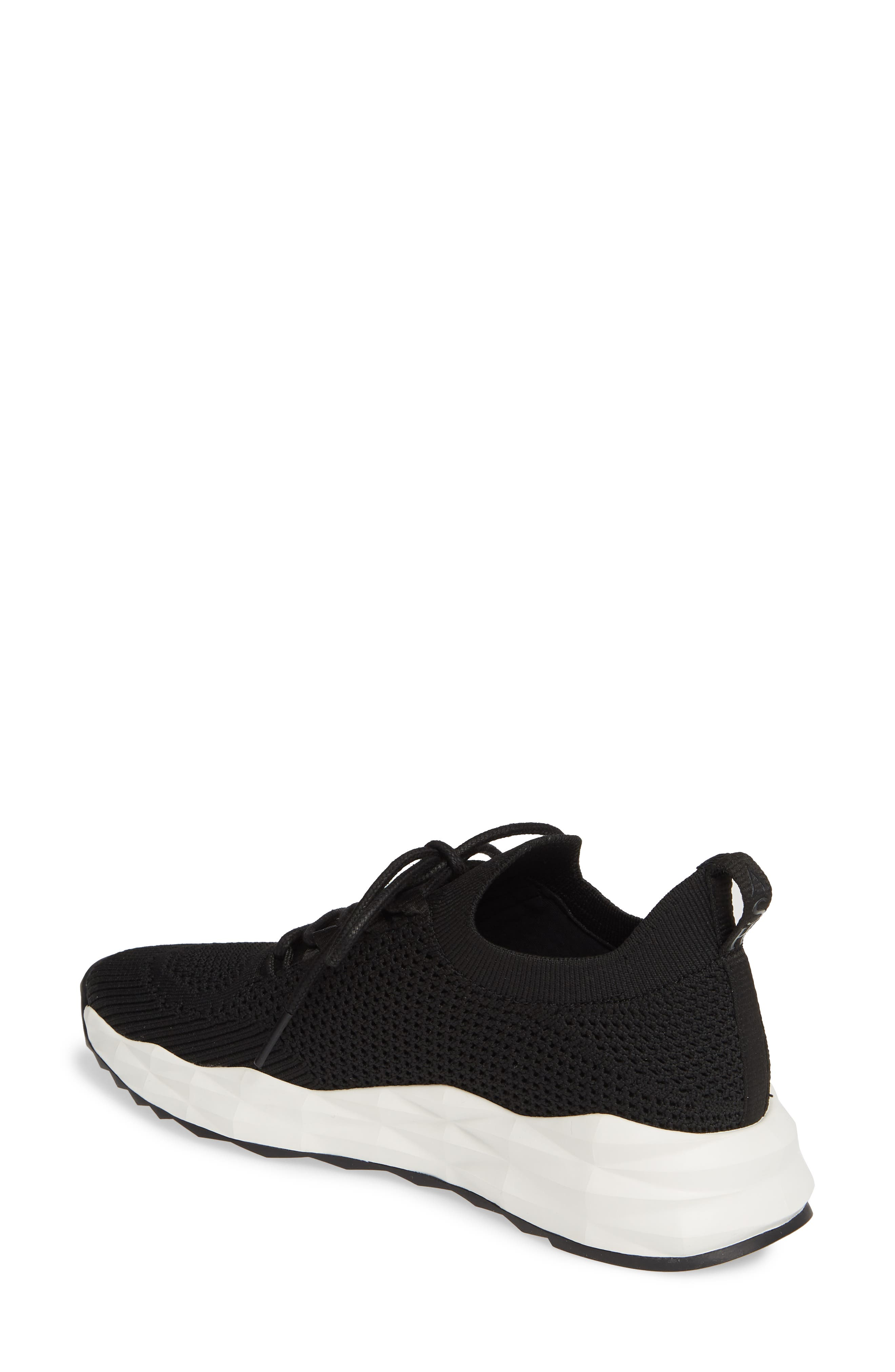 ASH, Knit Skate Sneaker, Alternate thumbnail 2, color, BLACK/ BLACK